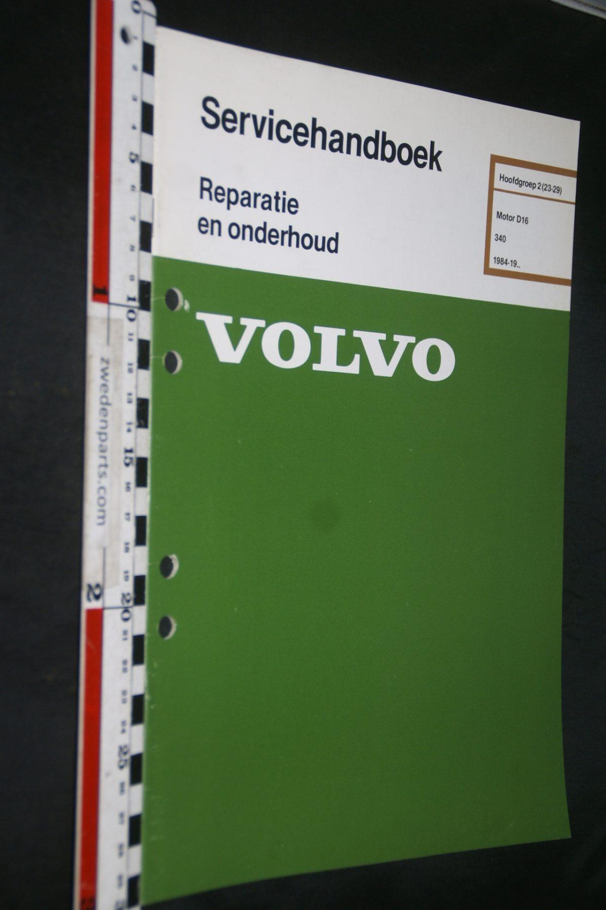 DSC06828 1984 origineel Volvo 340 servicehandboek 2 (23-29) motor D16 1 van 900 TP 35213-1