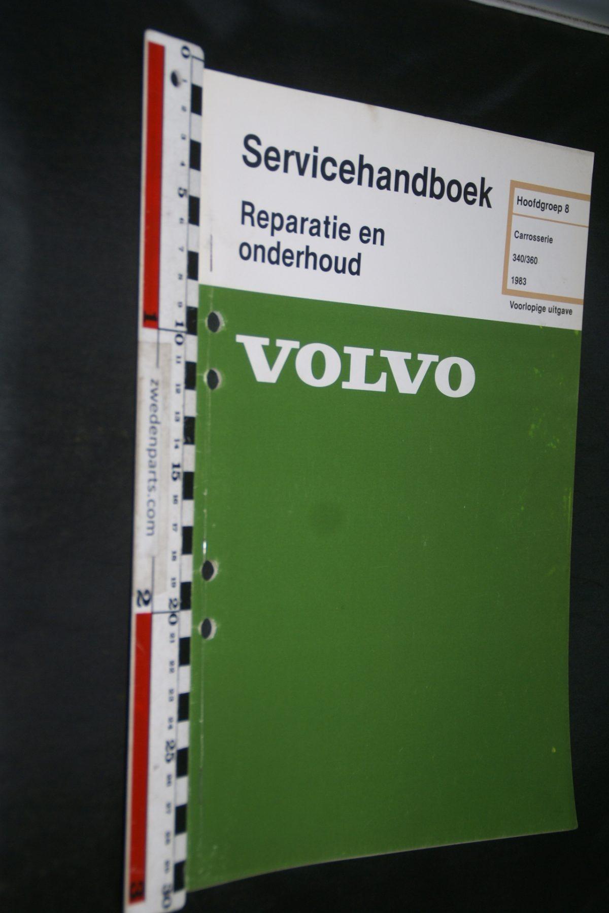 DSC06830 1982 origineel Volvo 340,360 servicehandboek 8 carosserie 1 van 800 TP 35120-1