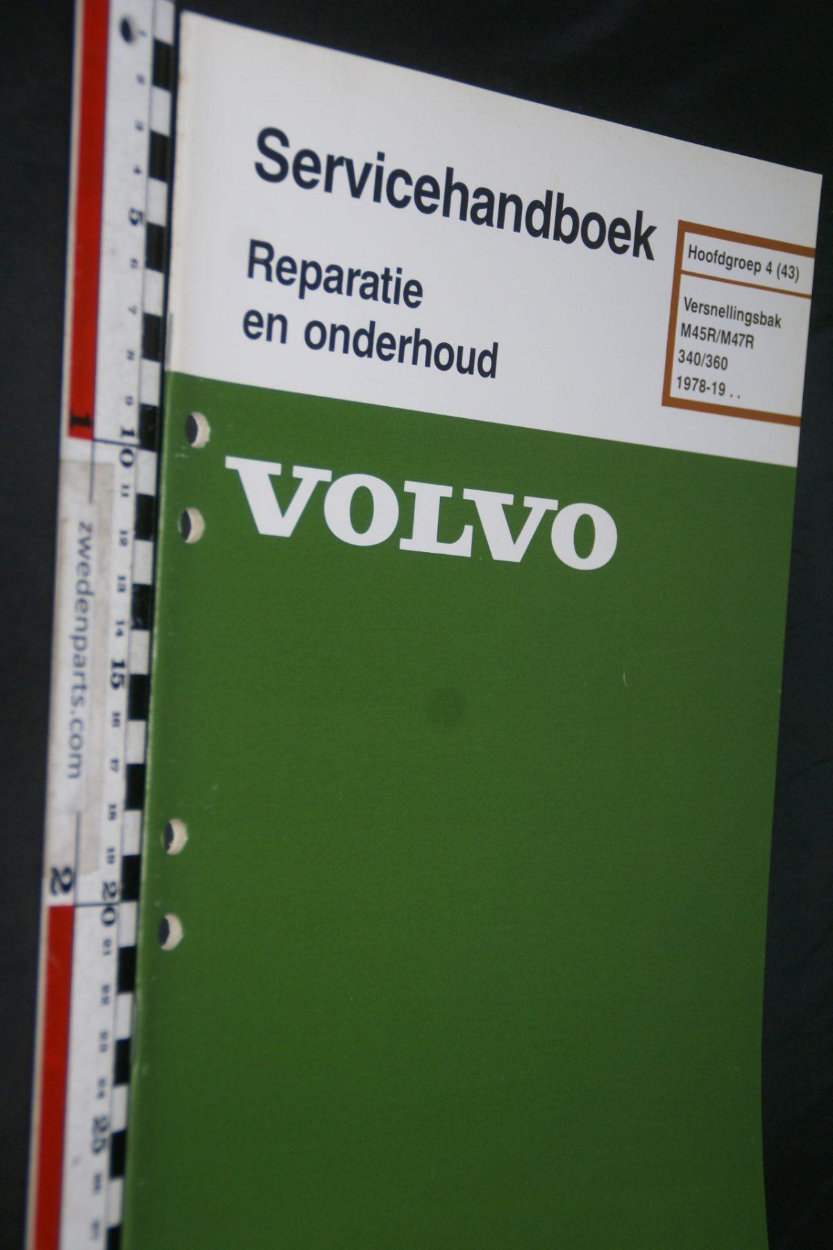 DSC06840 1983 origineel Volvo 340,360 servicehandboek 4 (43) versnellingsbak M45R, M47R 1 van 900 TP 35180-1