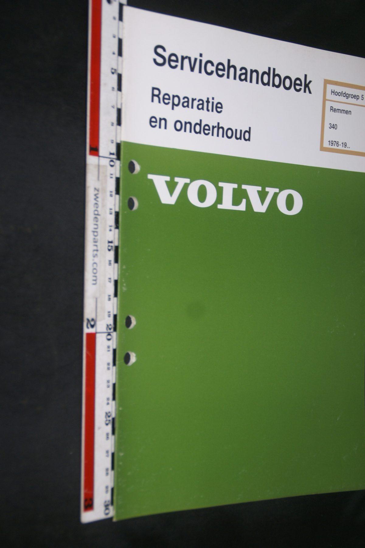 DSC06844 1981 origineel Volvo 340 servicehandboek 5 remmen 1 van 800 TP 12158-2