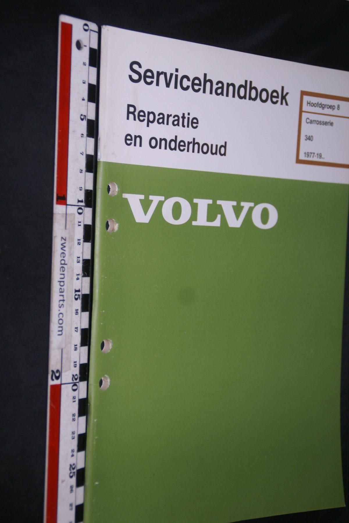 DSC06852 1981 origineel Volvo 340 servicehandboek 8 carosserie 1 van 800 TP 11981-3