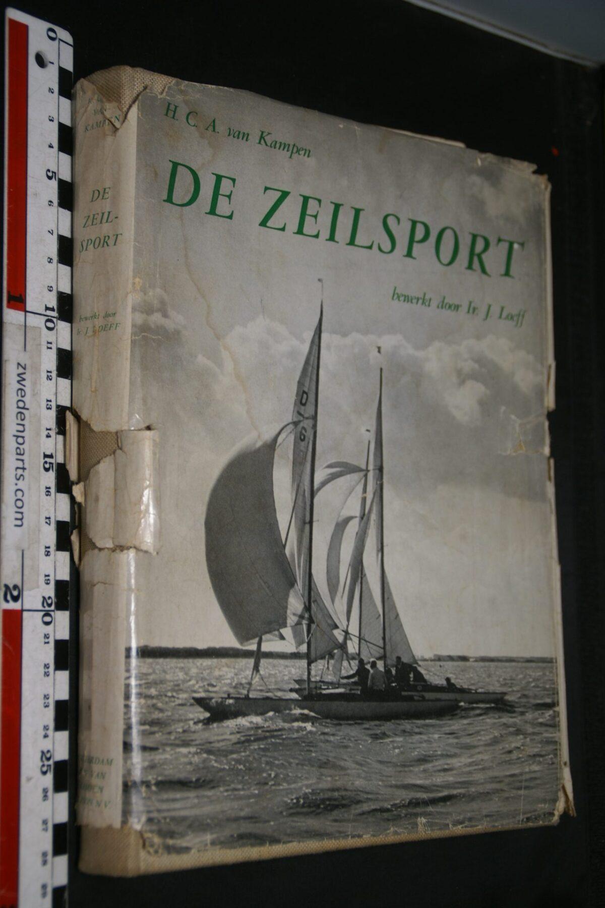 DSC06940 1982 1956 boek De Zeilsport van H. van Kampen en J. Loeff, 6e druk