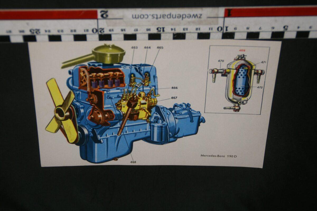 DSC07128 kaart met motor Mercedes 190D