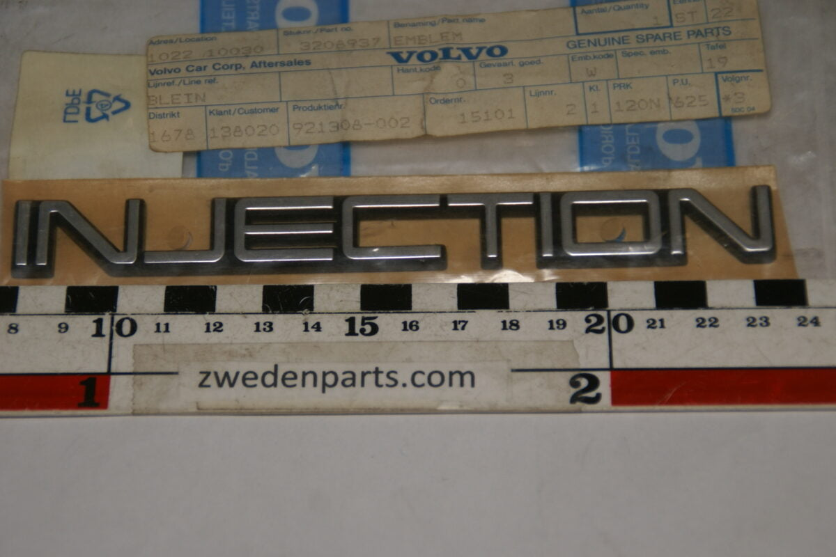 DSC07902 embleem Volvo Injection 3208937 NOS