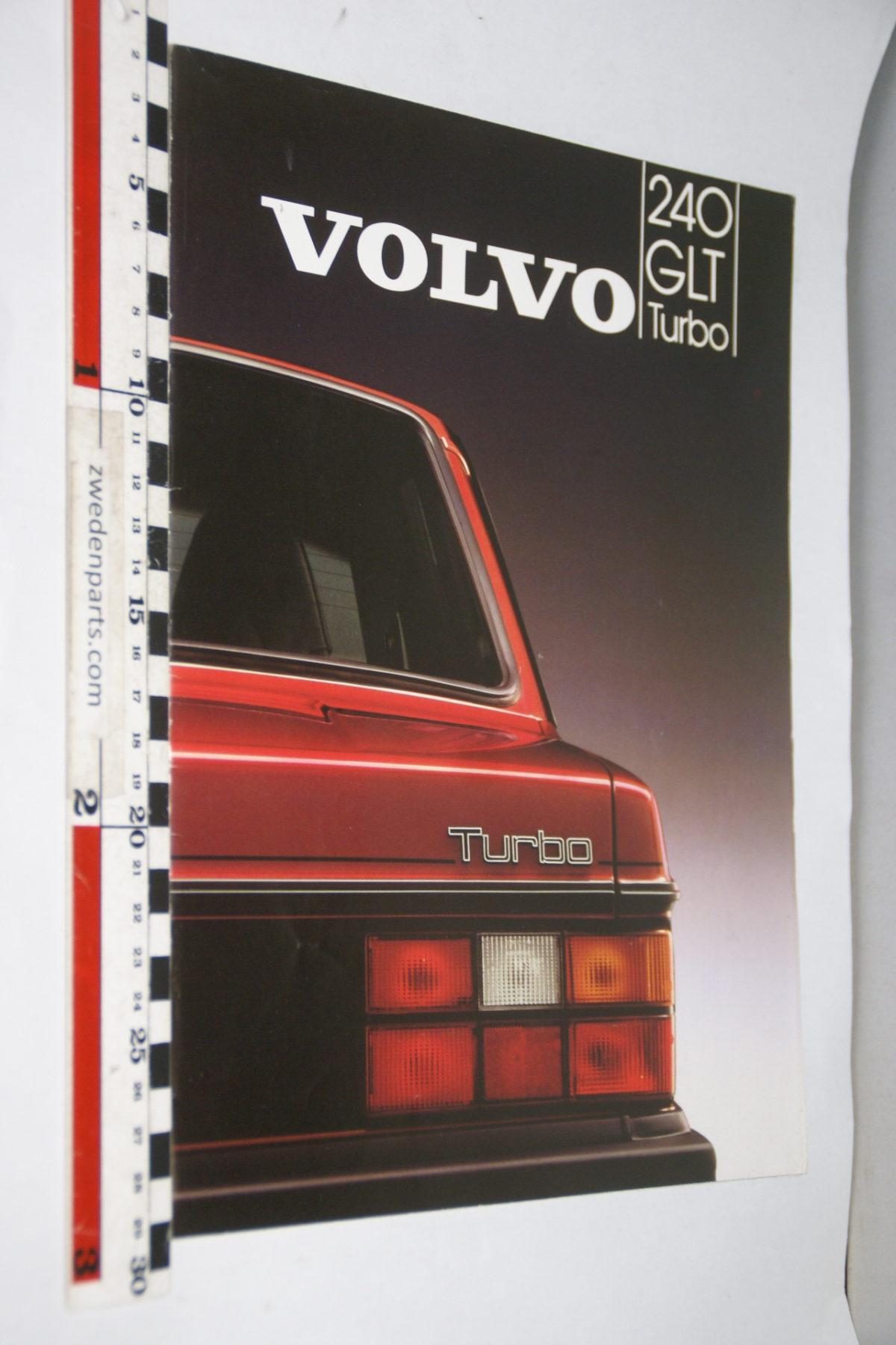 DSC07925 1983 brochure Volvo 240GLT Turbo nr MSPV 125-83, Svenska