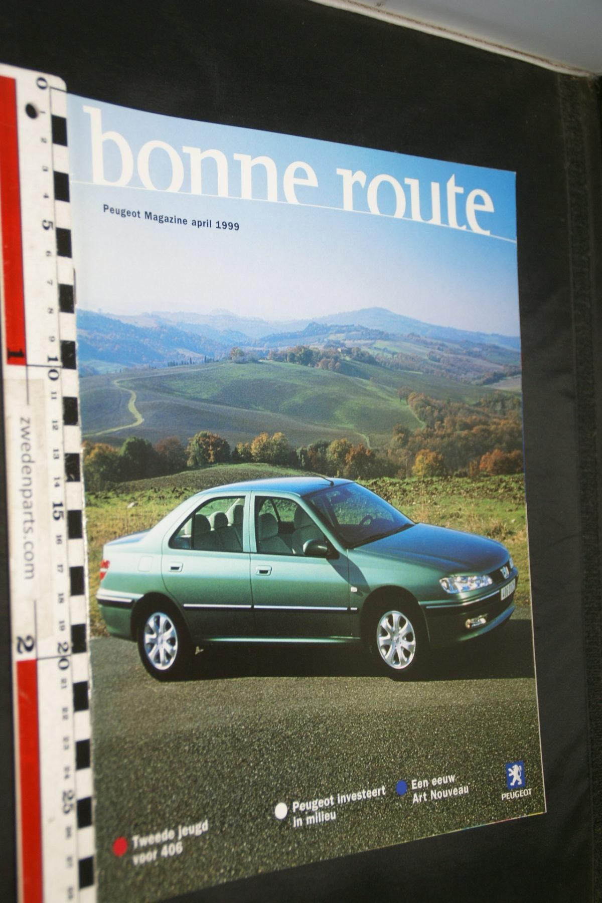 DSC08422 tijdschrift Peugeot Bonne Route 1999 april