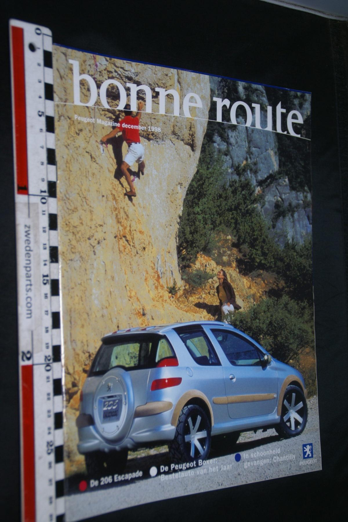 DSC08424 tijdschrift Peugeot Bonne Route 1998 december