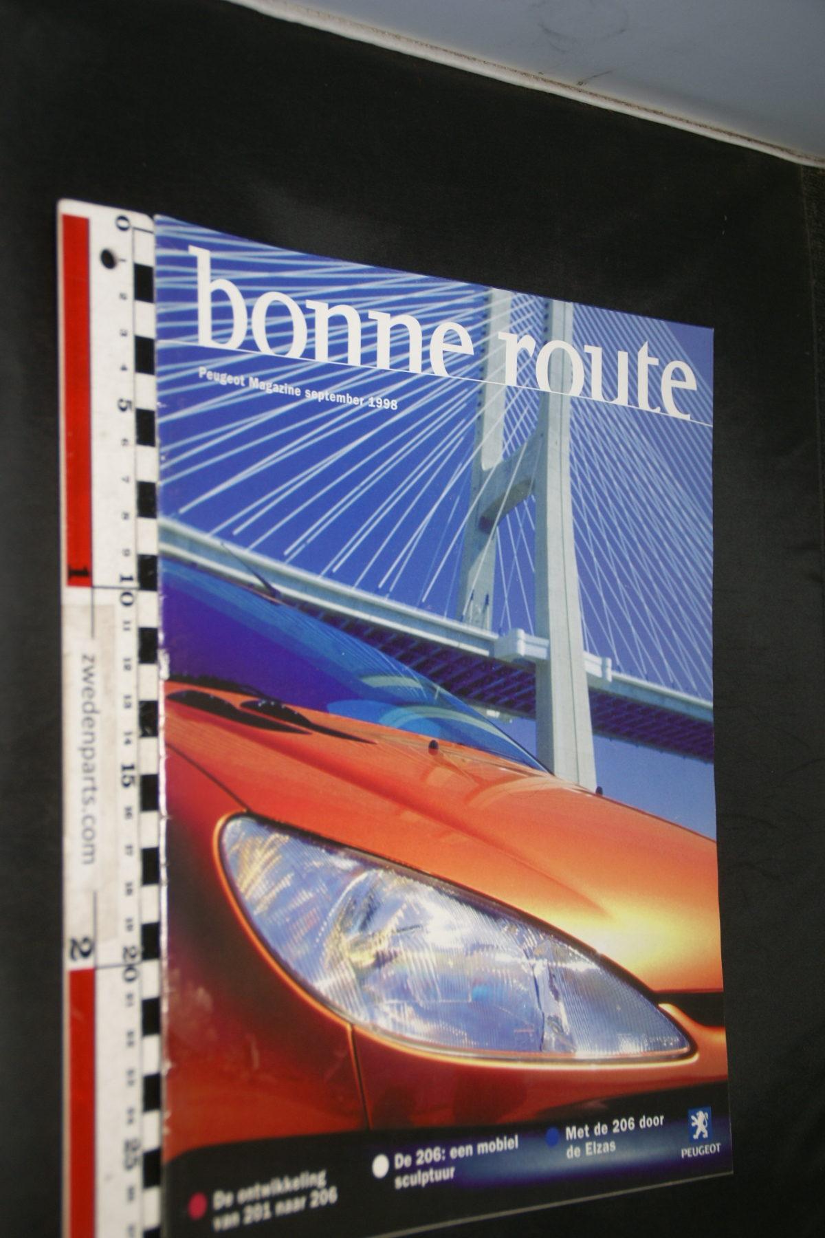 DSC08426 tijdschrift Peugeot Bonne Route 1998 september