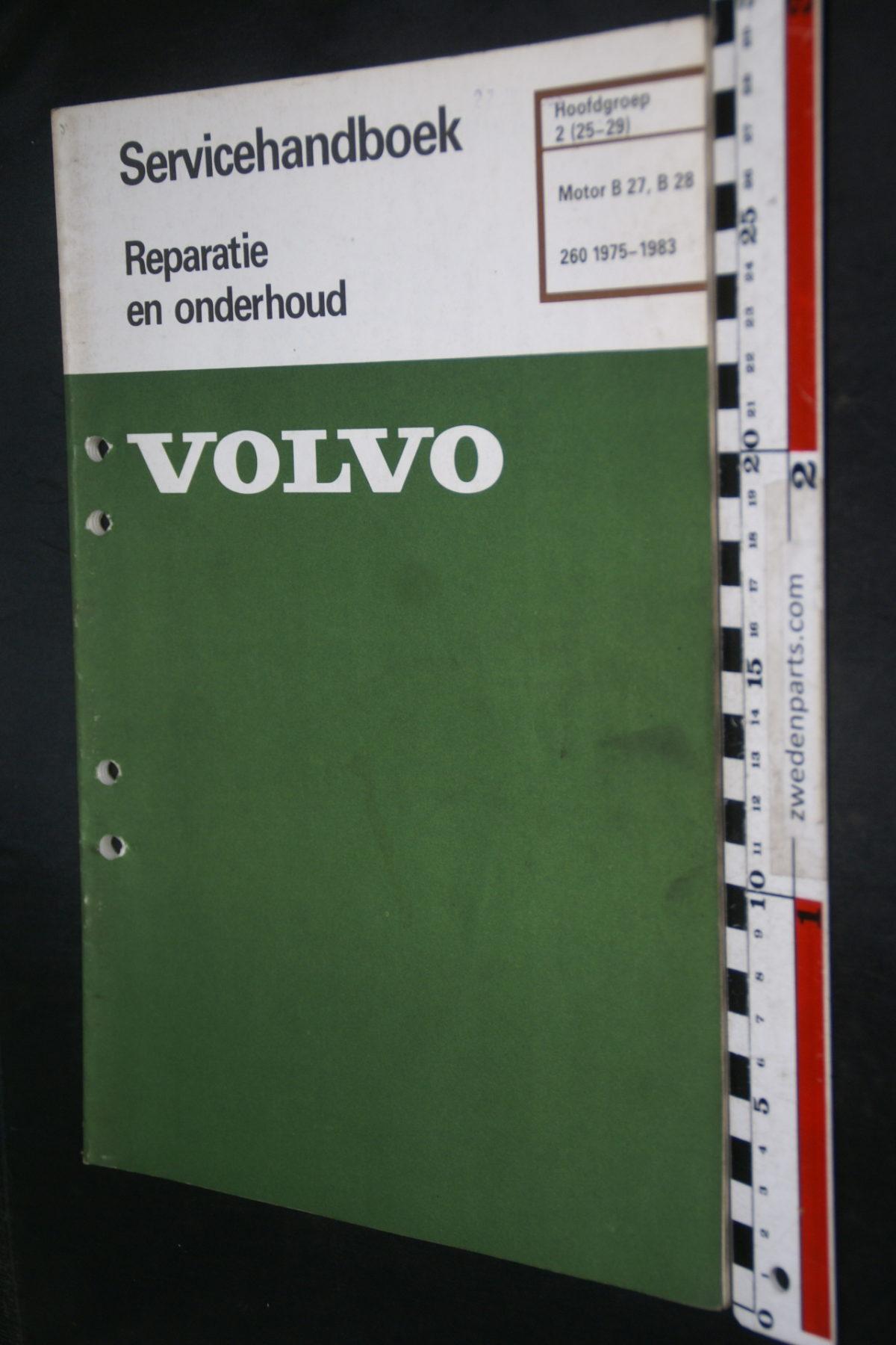 DSC08469 1983 origineel Volvo 260 servicehandboek  2 (25-29) motor B27, B28 1 van 800 TP 30565-1
