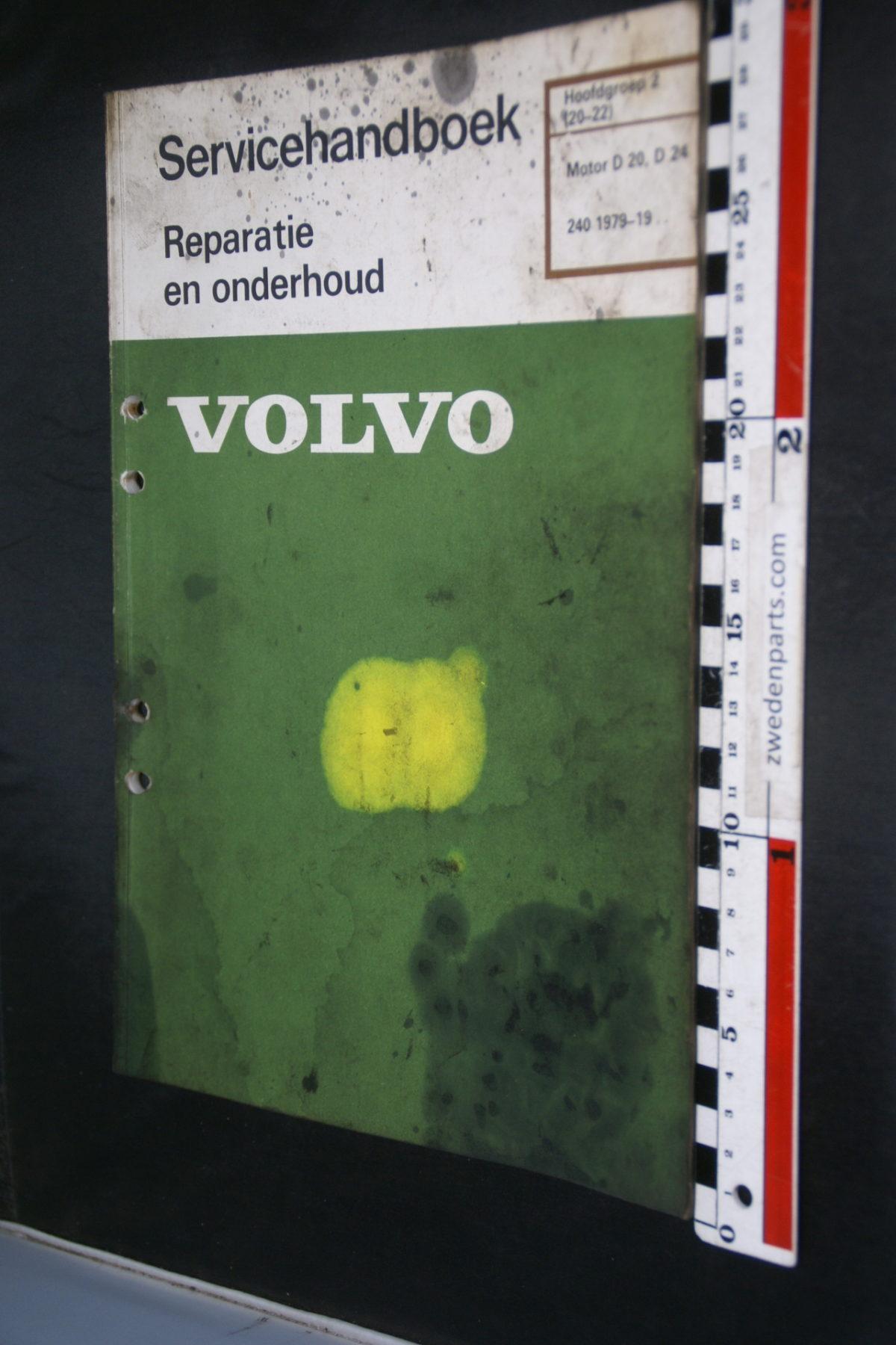 DSC08473 1982 origineel Volvo 240 servicehandboek  2 (20-22) motor D20, D24 1 van 800 TP 30009-2
