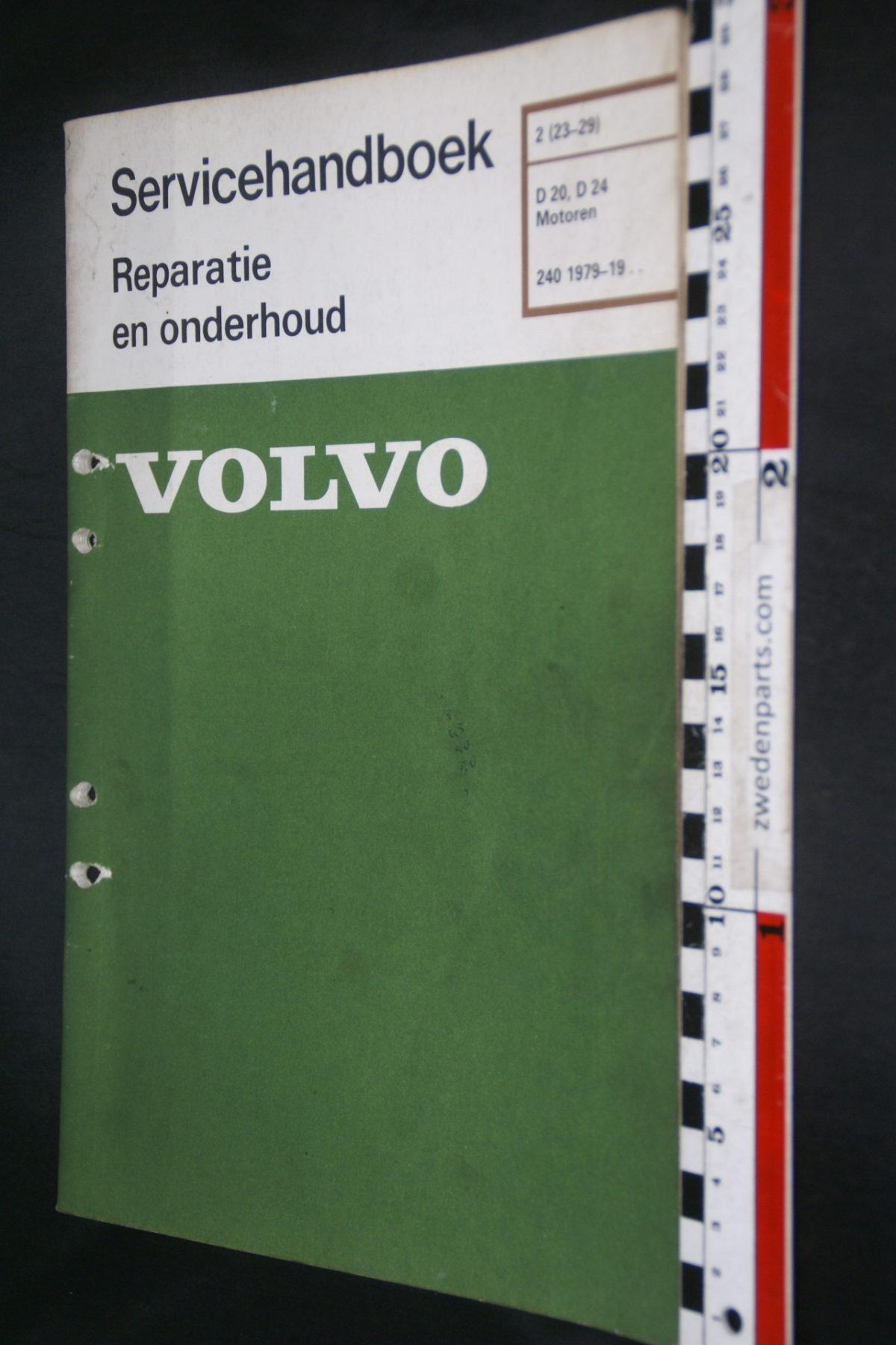 DSC08477 1983 origineel Volvo 240 servicehandboek  2 (23-29) motor D20, D24 1 van 800 TP 30016-2