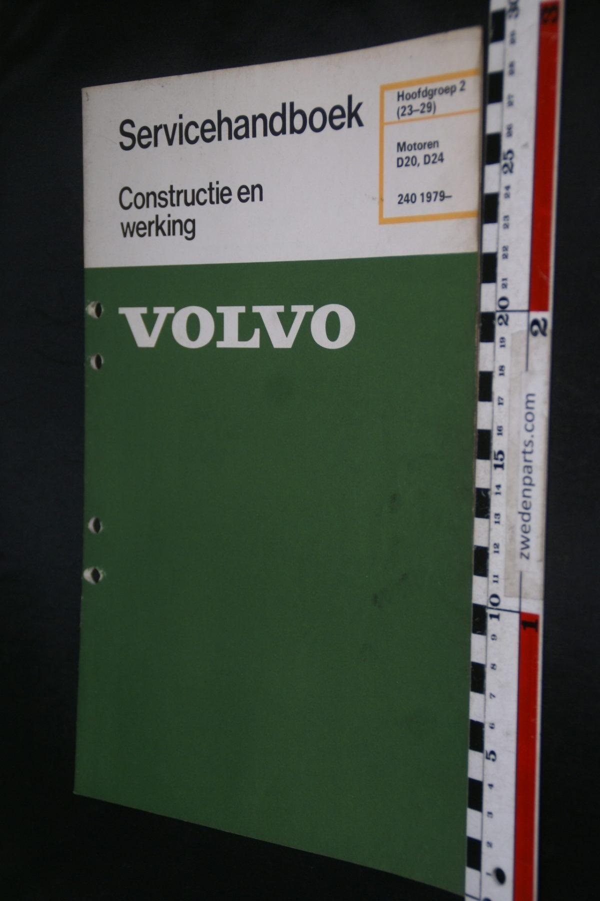 DSC08479 1980 origineel Volvo 240 servicehandboek  2 (23-29) motor D20, D24 1 van 800 TP 30150-1