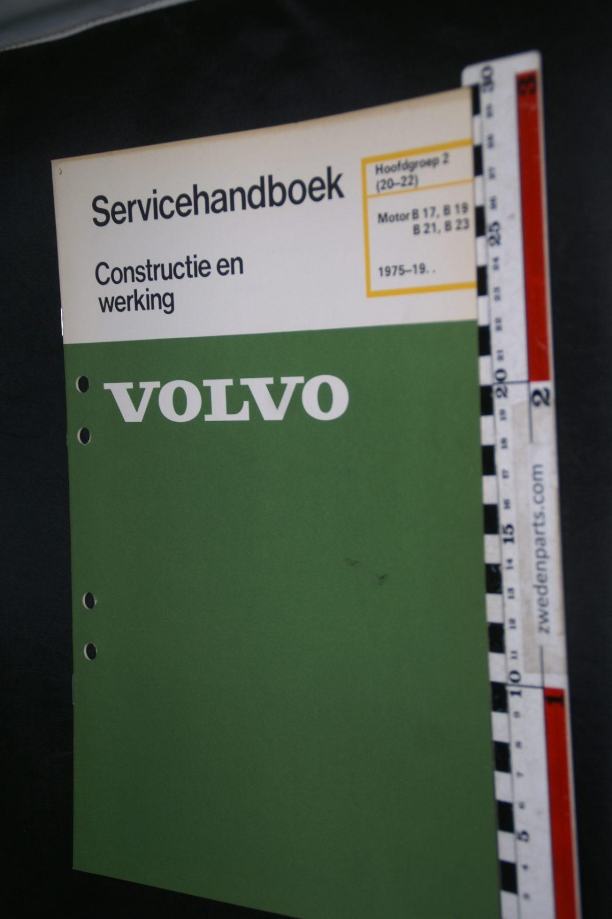 DSC08487 1981 origineel Volvo servicehandboek  2 (20-22) motor B17, B19, B21, B23 1 van 800 TP 30293-1