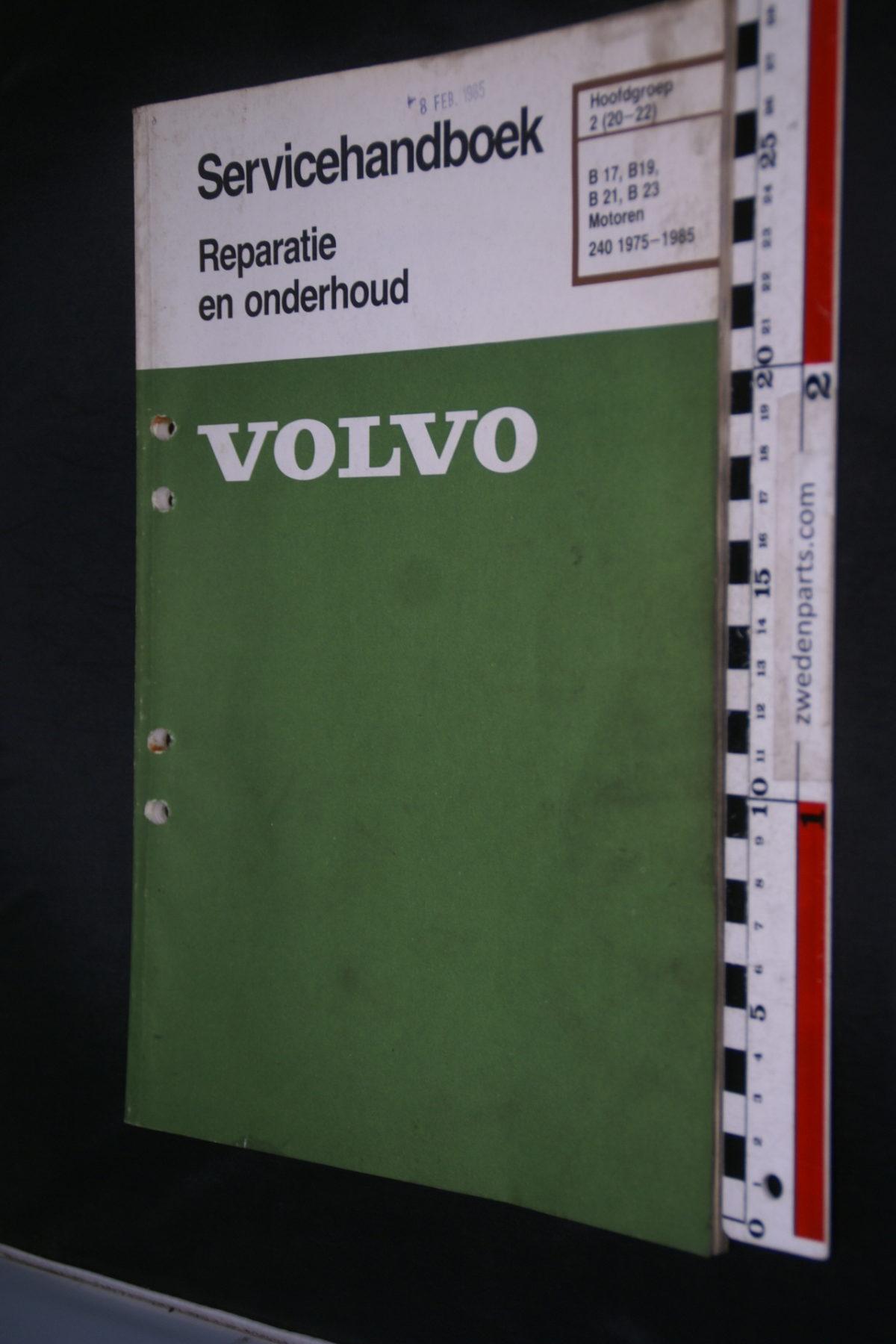 DSC08489 1984 origineel Volvo 240  servicehandboek  2 (20-22) motor B17, B19, B21, B23 1 van 800 TP 30160-2