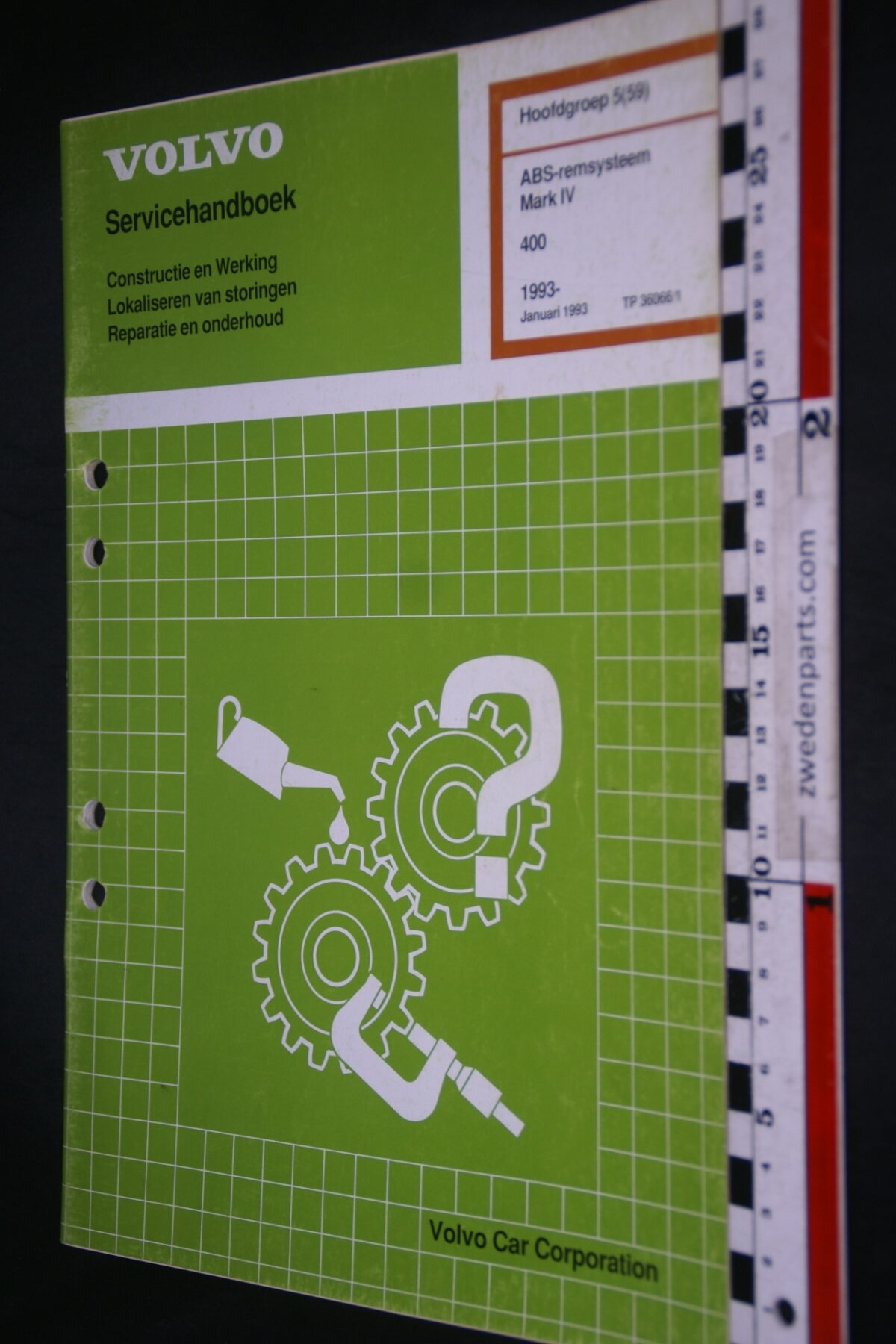 DSC08525 1993 origineel Volvo 400 servicehandboek  5 (59) ABS remsysteem MK IV 1 van 1.000 TP 36066-1