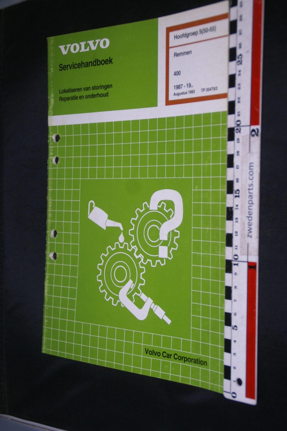 DSC08529 1993 origineel Volvo 400 servicehandboek  5 (50-55) remmen 1 van 1.000 TP 35475-1