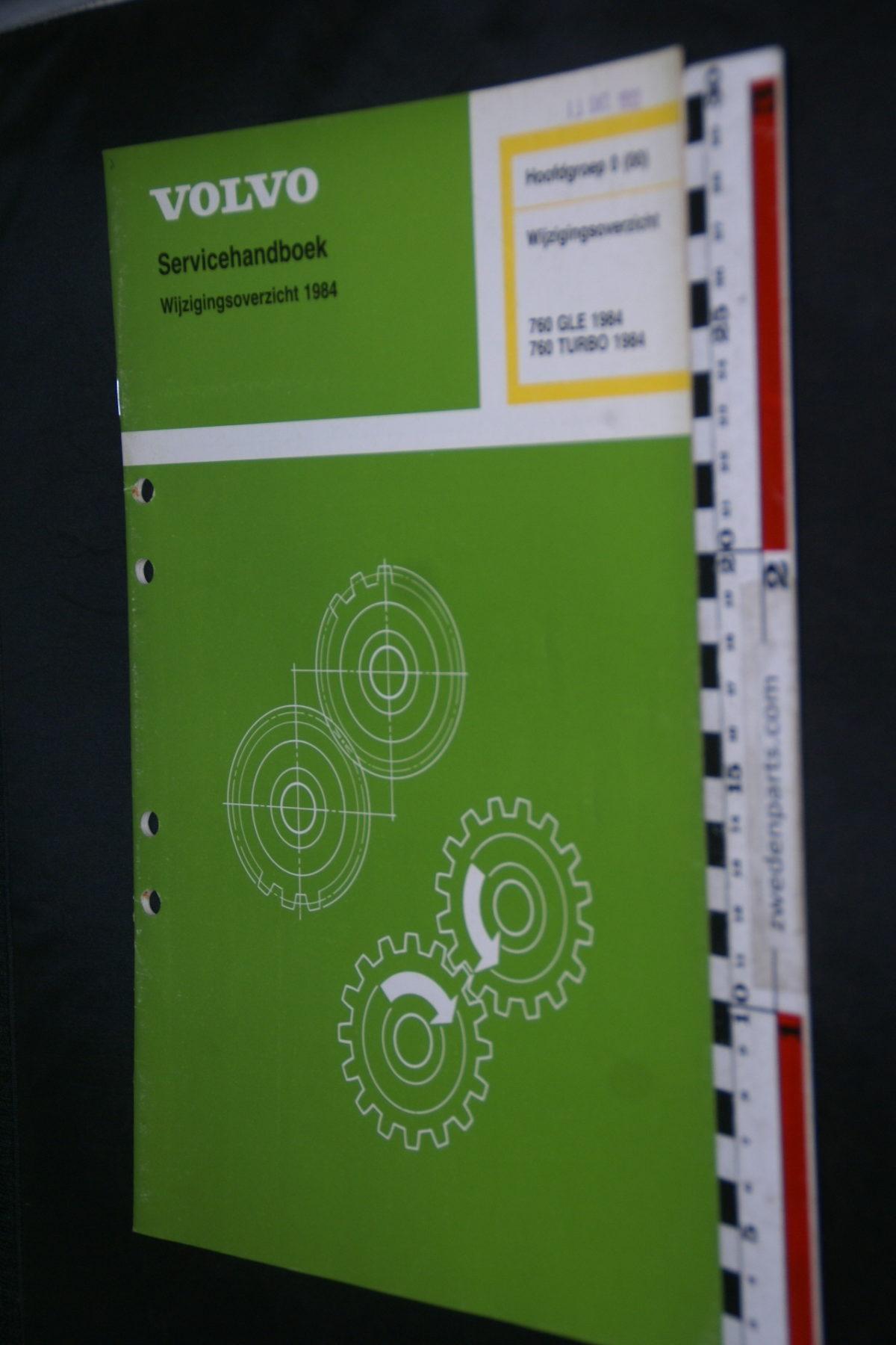 DSC08595 1983 origineel Volvo 760GLE  760TURBO servicehandboek  0 (00) wijzigingsoverzicht 1 van 1.200 TP 30622-1