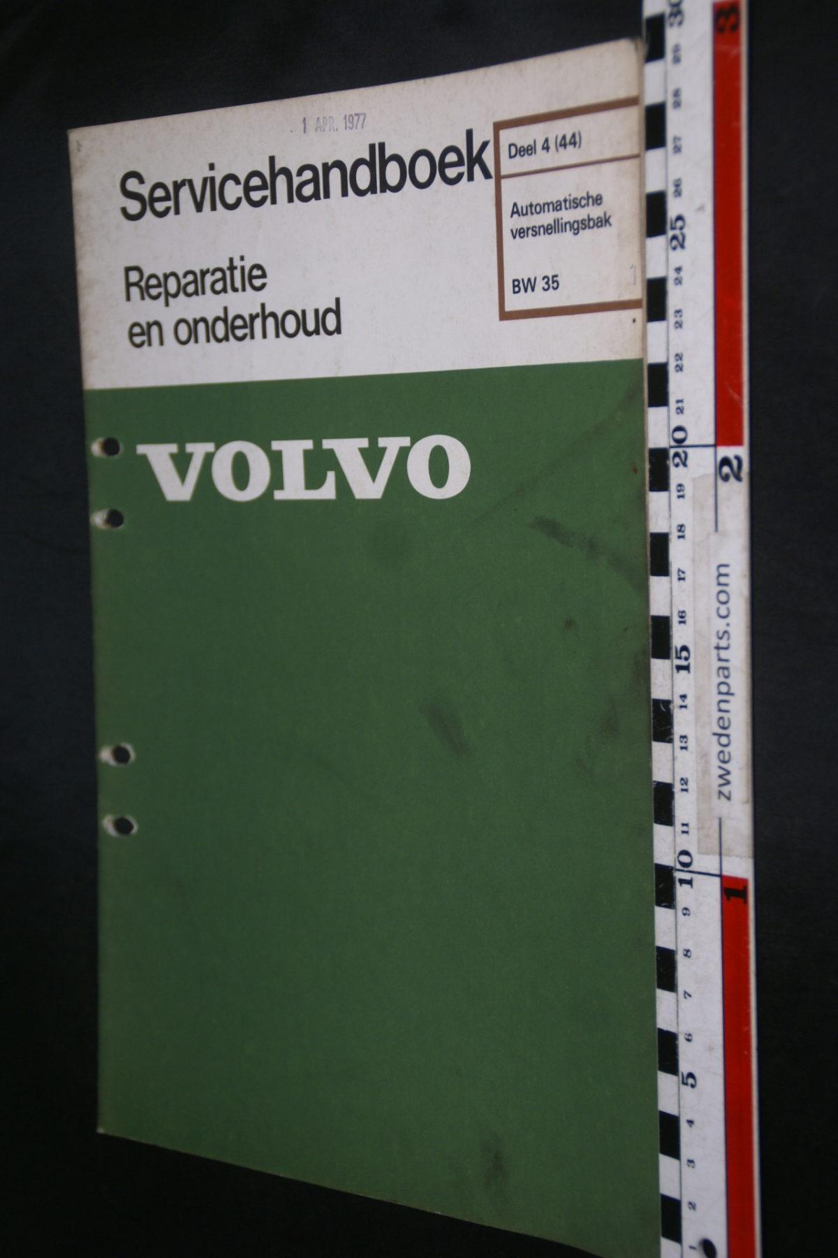 DSC08605 1977 origineel Volvo servicehandboek  4 (44) automaat BW35 1 van 750 TP 11475-1
