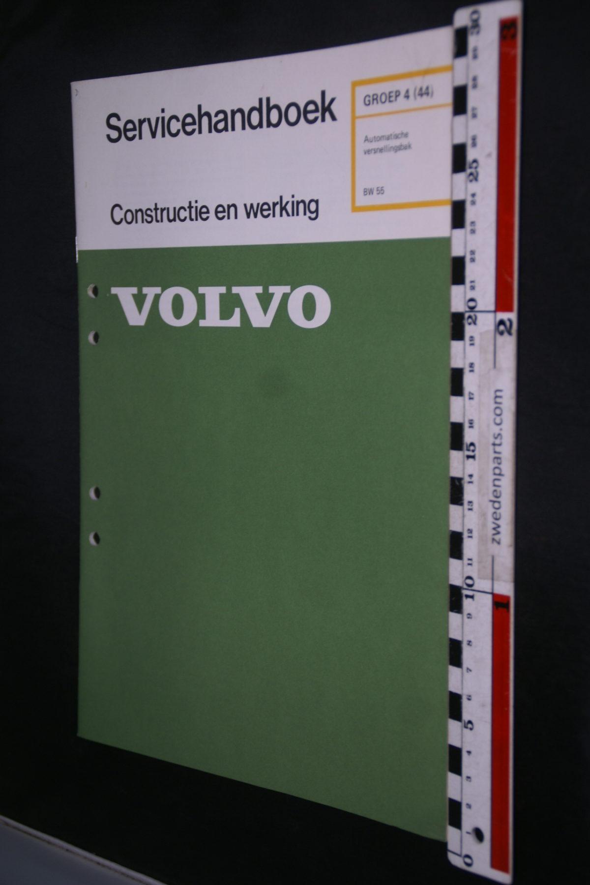 DSC08607 1975 origineel Volvo servicehandboek  4 (44) automaat BW55 1 van 500 TP 10998-1