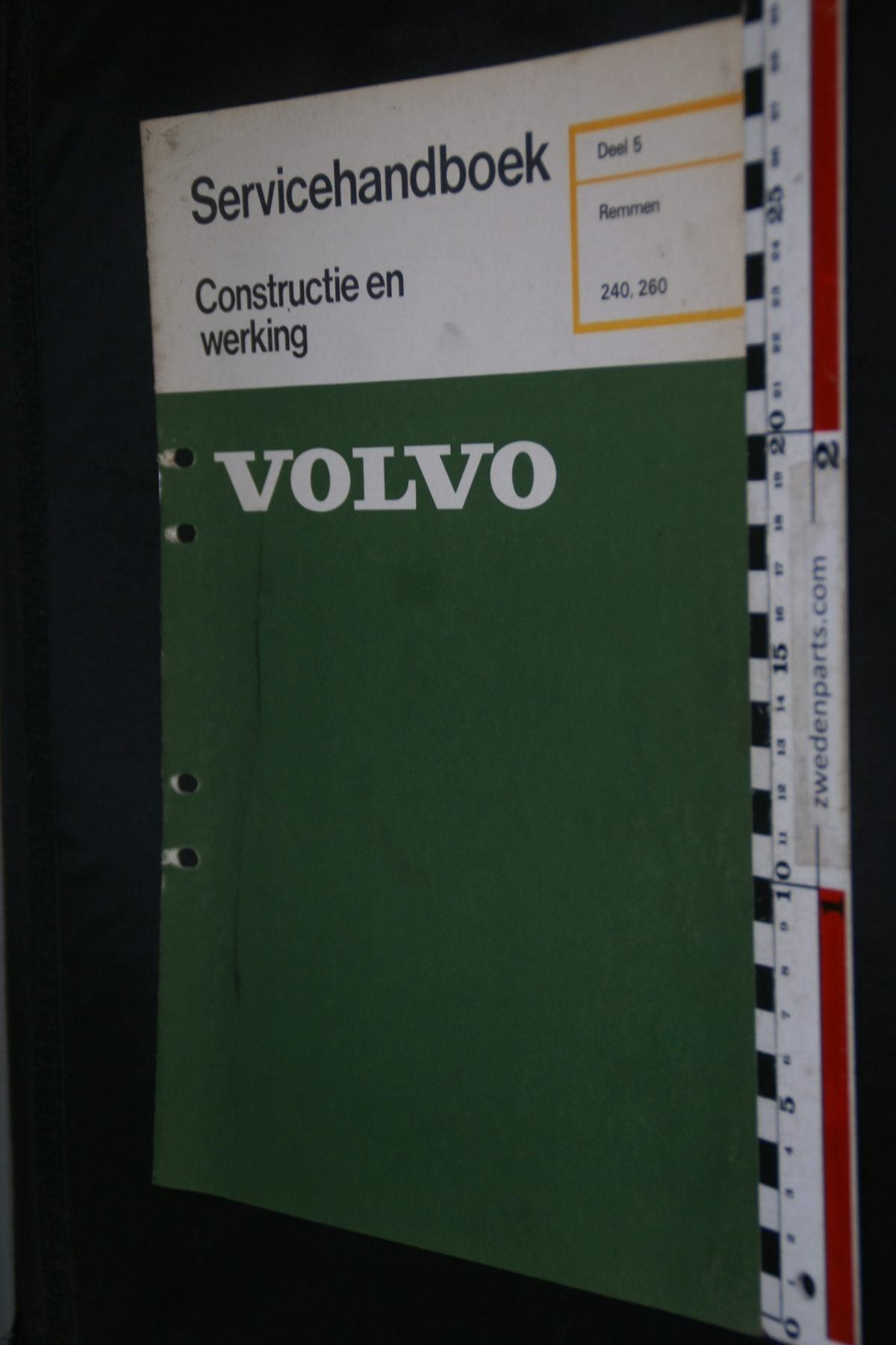 DSC08636 1976 origineel Volvo 240, 260 servicehandboek  5 remmen 1 van 800 TP 11482-1