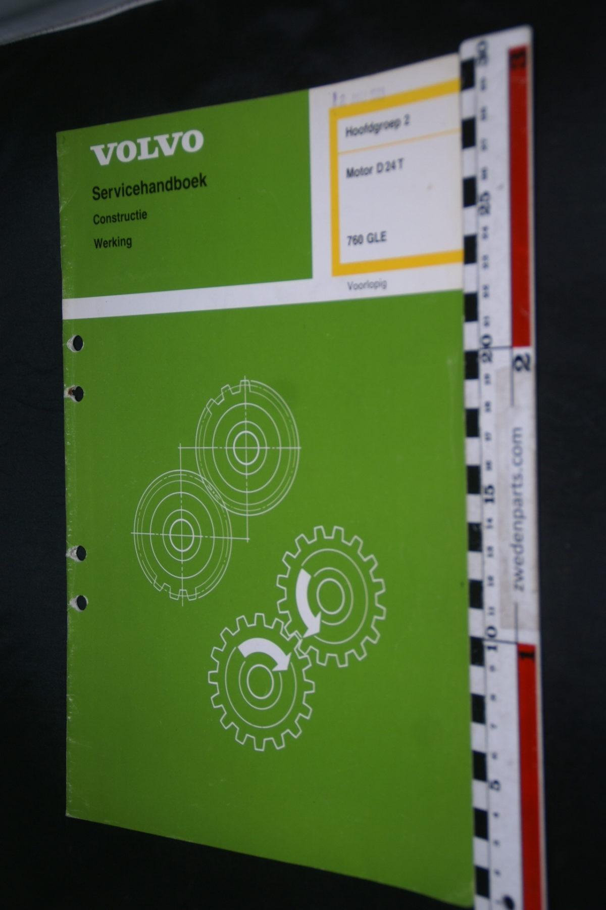 DSC08644 1988 origineel Volvo 760GLE servicehandboek  2 motor D24T1 van 800 TP 30589-1