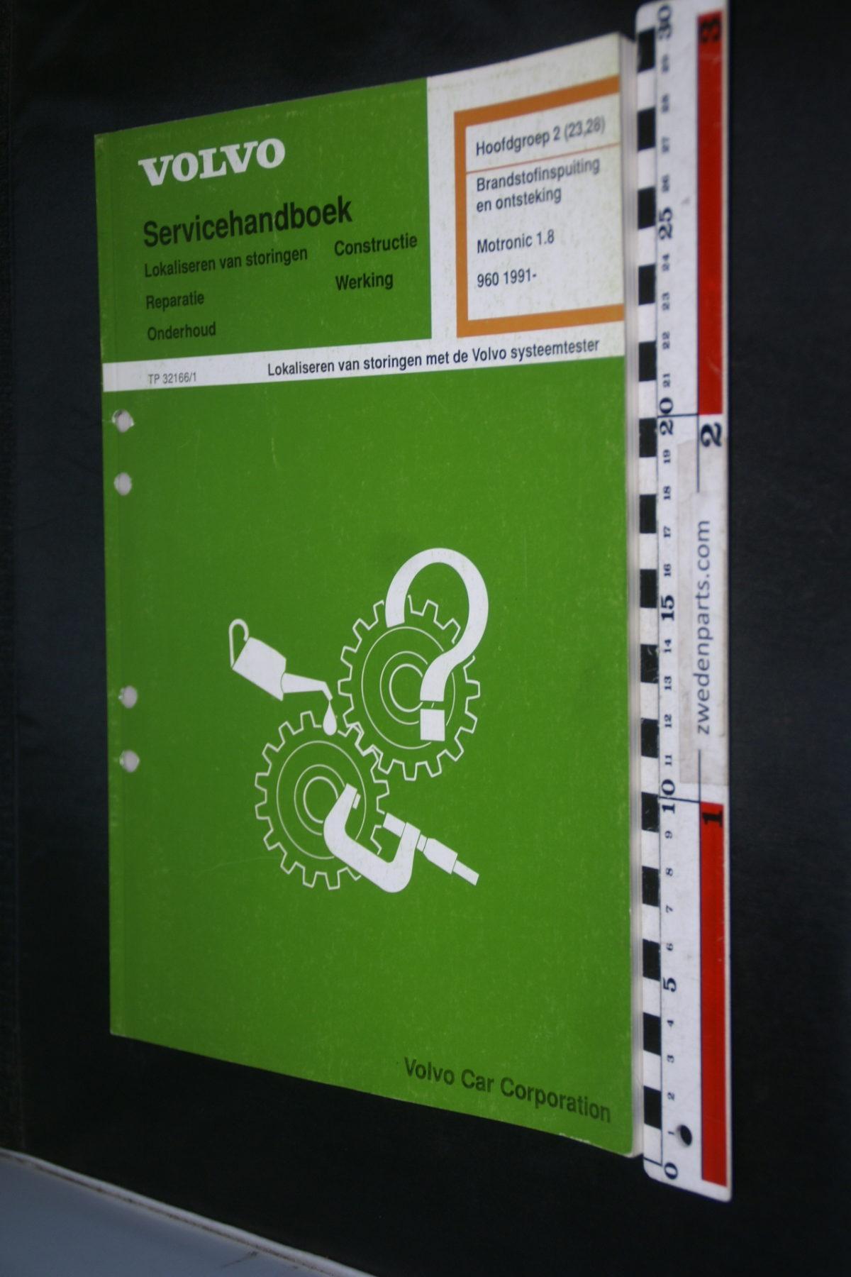 DSC08652 1992 origineel Volvo 960 servicehandboek  2 (23-28) brandstof en ontstekingssysteem Motronic 1.8 1 van 800 TP 31266-1