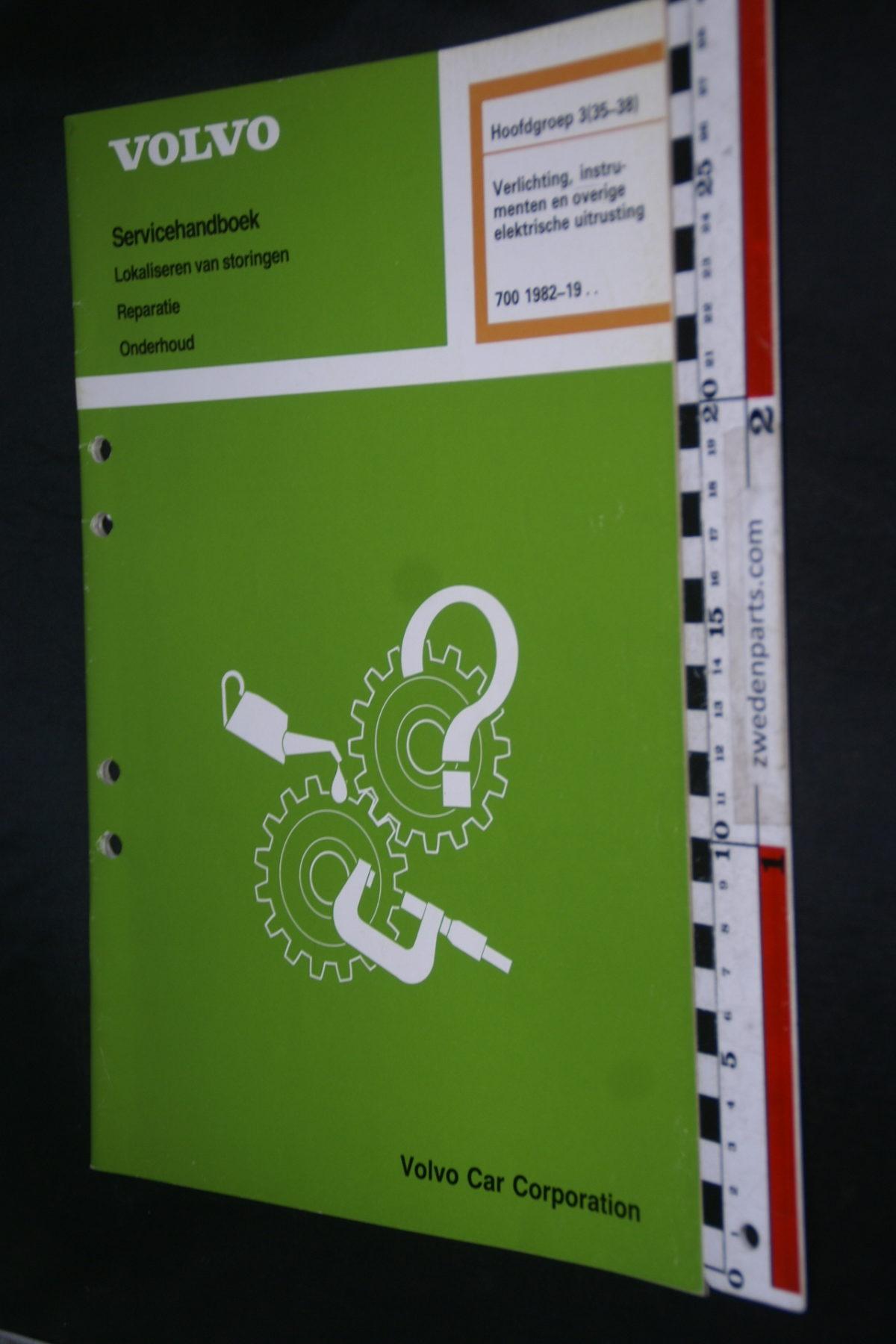 DSC08660 1987 origineel Volvo 700 servicehandboek  3 (35-38) verlichting, instrumenten 1 van 800 TP 31170-1