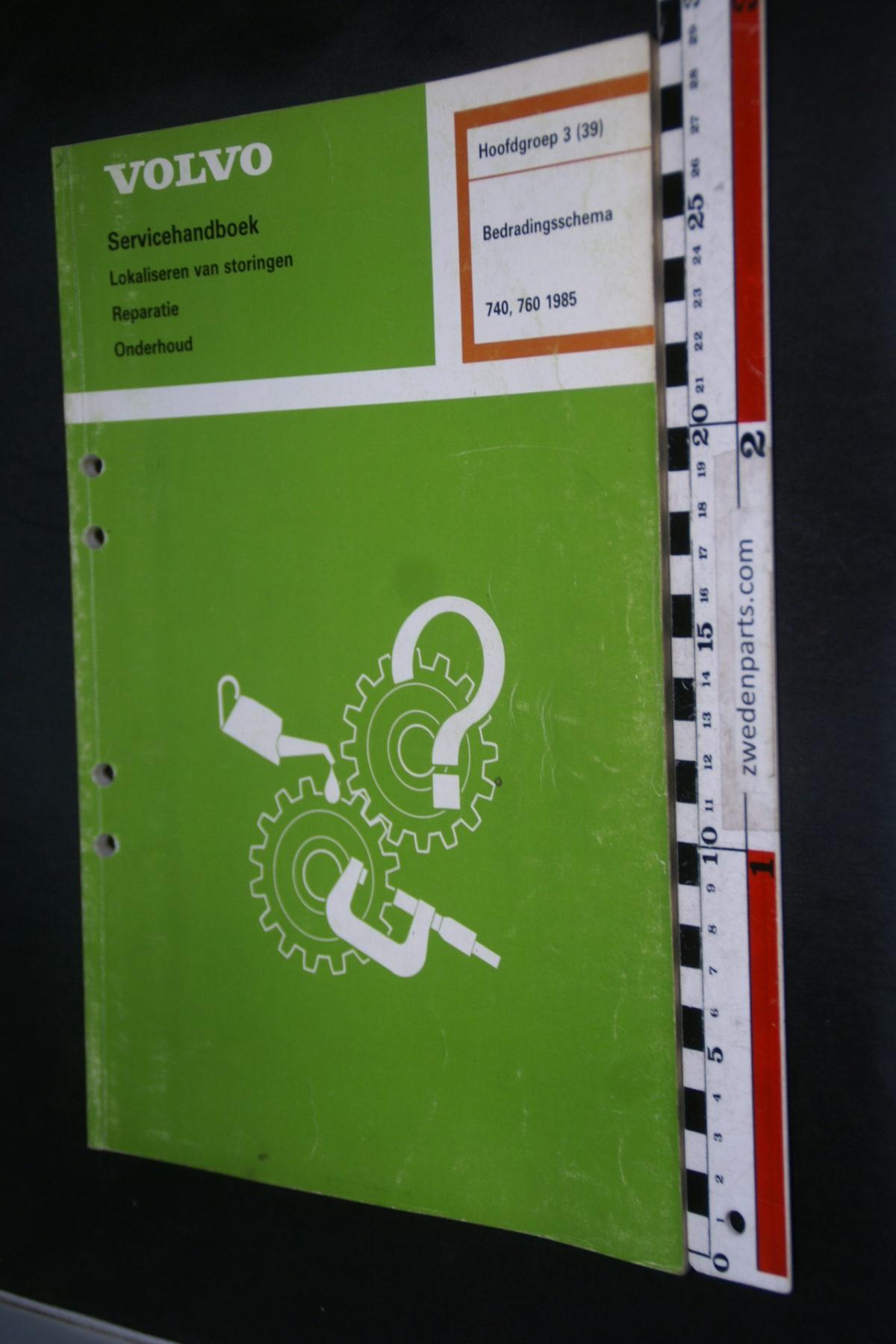 DSC08664 1985 origineel Volvo 740, 760 servicehandboek  3 (39) bedradingsschema 1 van 800 TP 30819-1