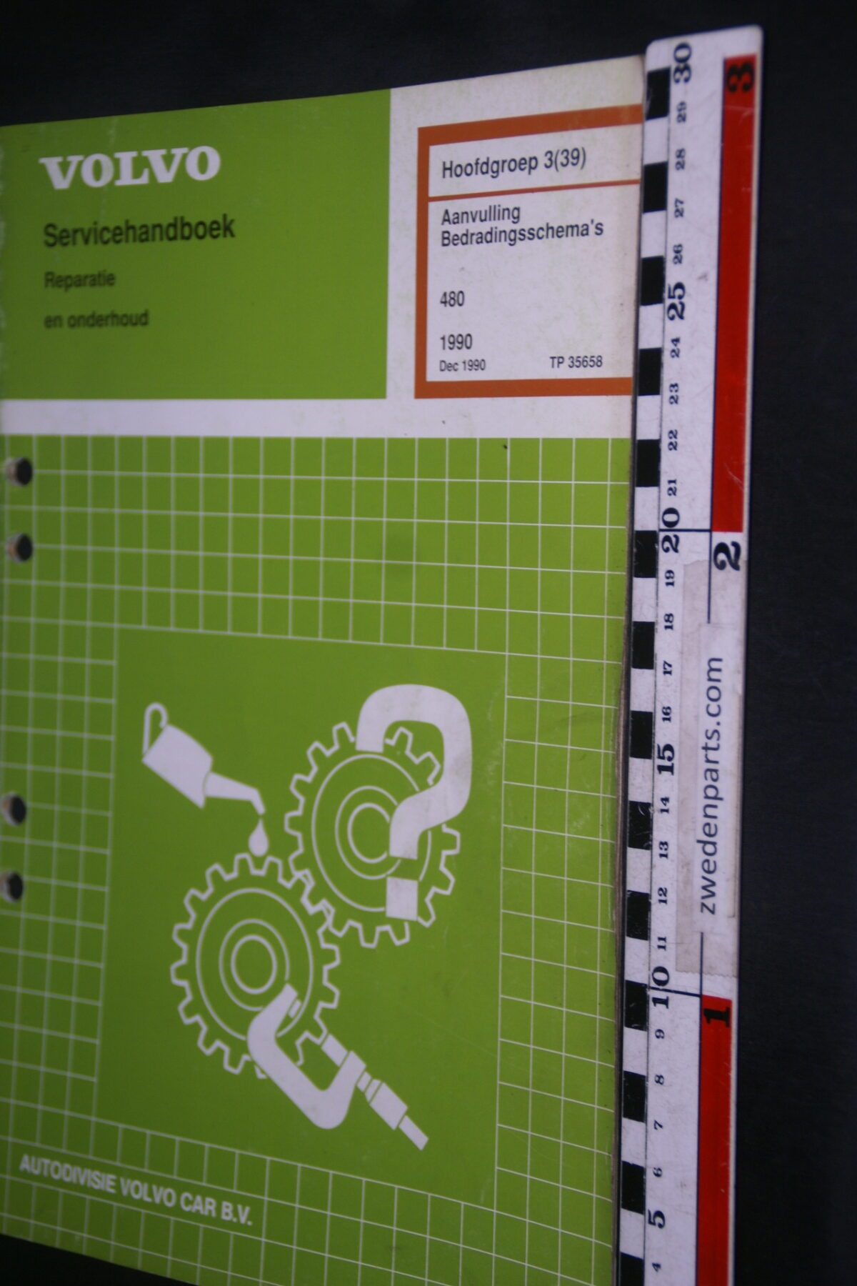 DSC08860 1990 origineel Volvo 480 servicehandboek  3 (39) bedradingsschema 1 van 1.200 TP 35658-1