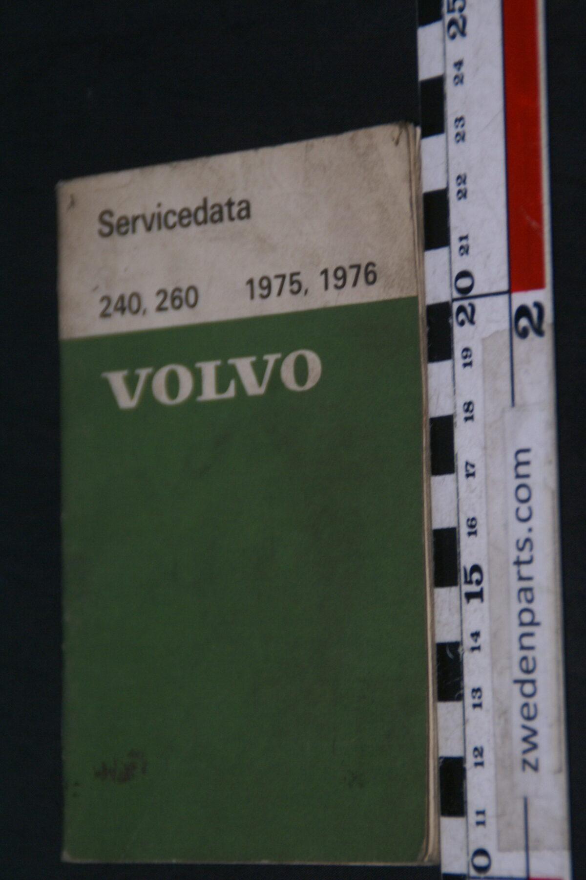 DSC09006 1975 origineel  Volvo 240, 260 1975, 1976 servicezakboek 1 van 2.000 nr 88361-2