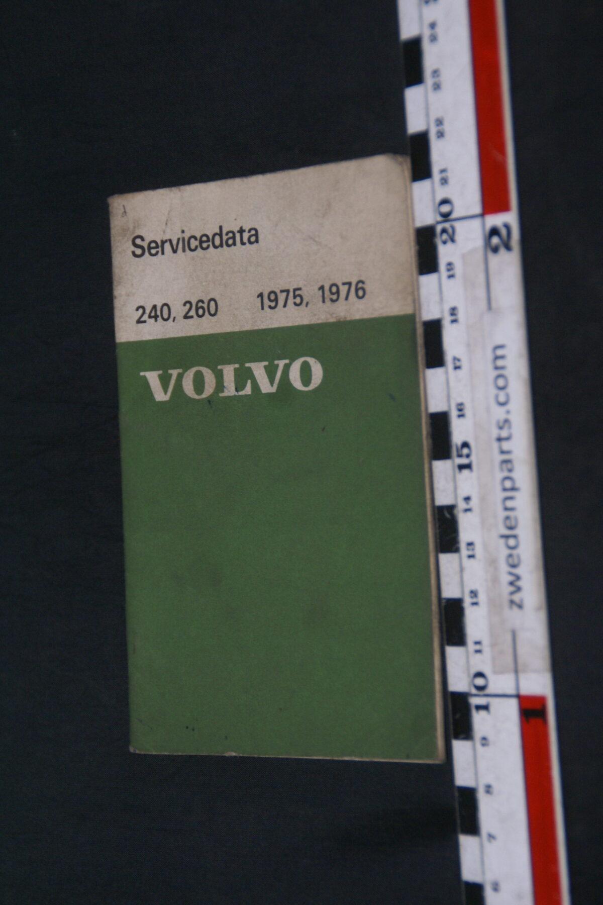 DSC09008 1975 origineel  Volvo 240, 260 1975, 1976 servicezakboek 1 van 2.000 nr 88301-2