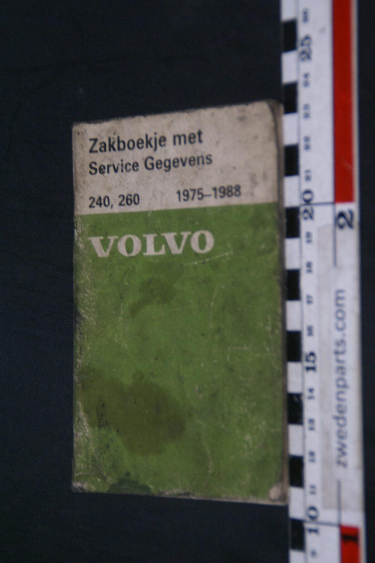 DSC09010 1988 origineel  Volvo 240, 260 1975 - 1988 servicezakboek 1 van 2.000 nr 88567-9