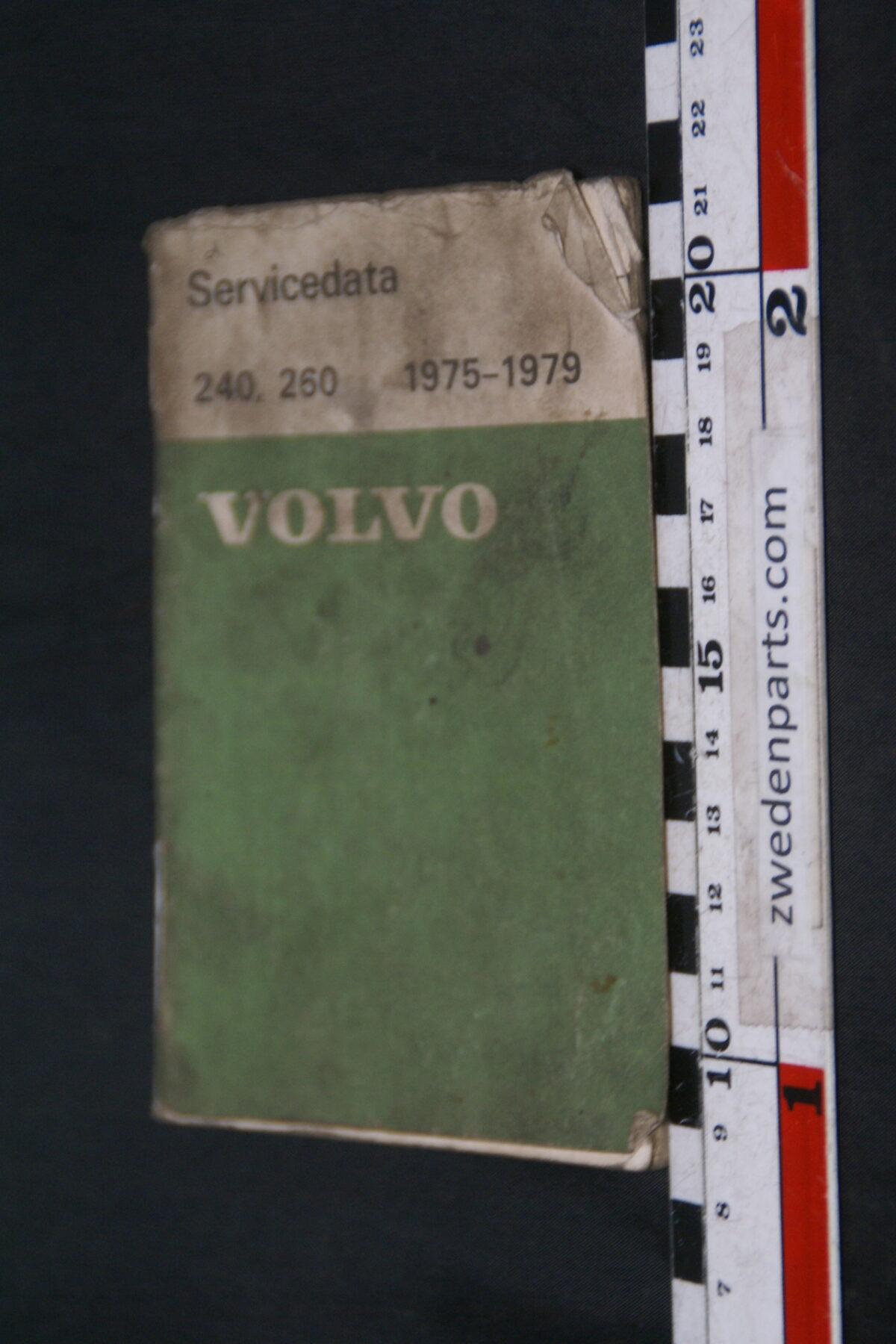 DSC09012 1975 origineel  Volvo 240, 260 1975, 1976 servicezakboek 1 van 5.000 nr TP 88361-5