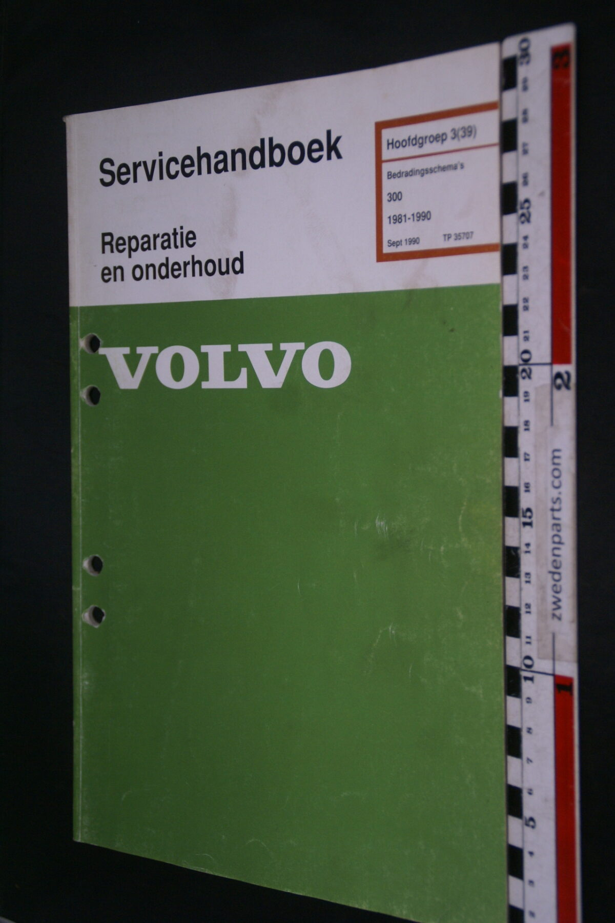 DSC09022 1993 origineel  Volvo 300 servicehandboek bedradingsschema 3 (39)  1 van 1.200 nr TP 35707-1