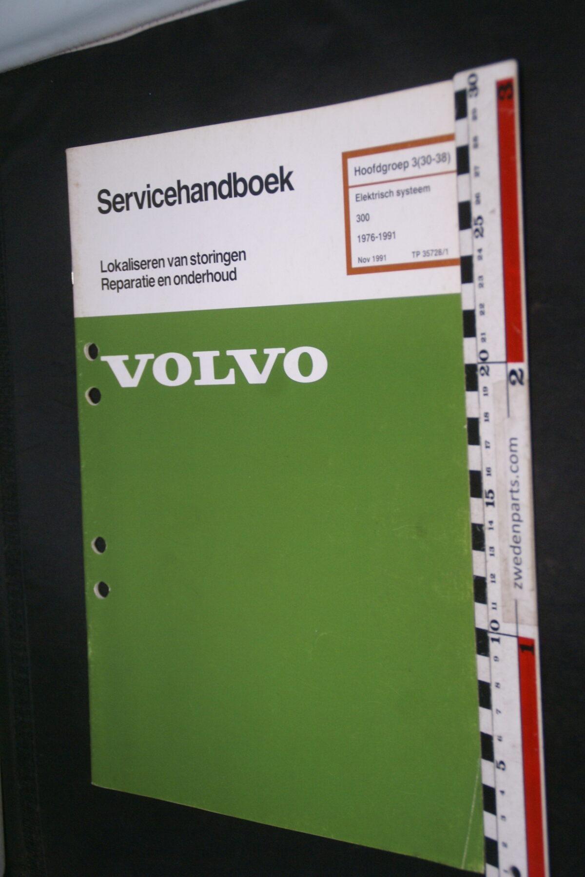 DSC09024 1991 origineel  Volvo 300 servicehandboek electrisch systeem 3 (30-38)  1 van 1.000 nr TP 35728-1