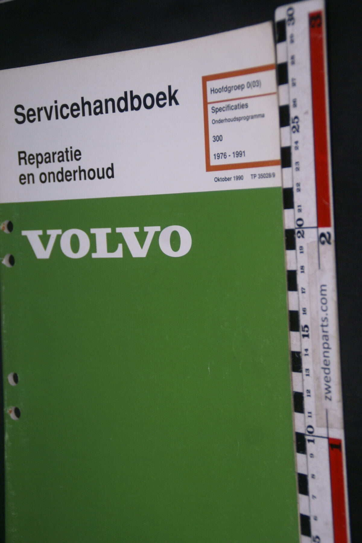 DSC09036 1991 origineel  Volvo 300 servicehandboek specificaties 0 (03) 1 van 1.000 nr TP 35028-9