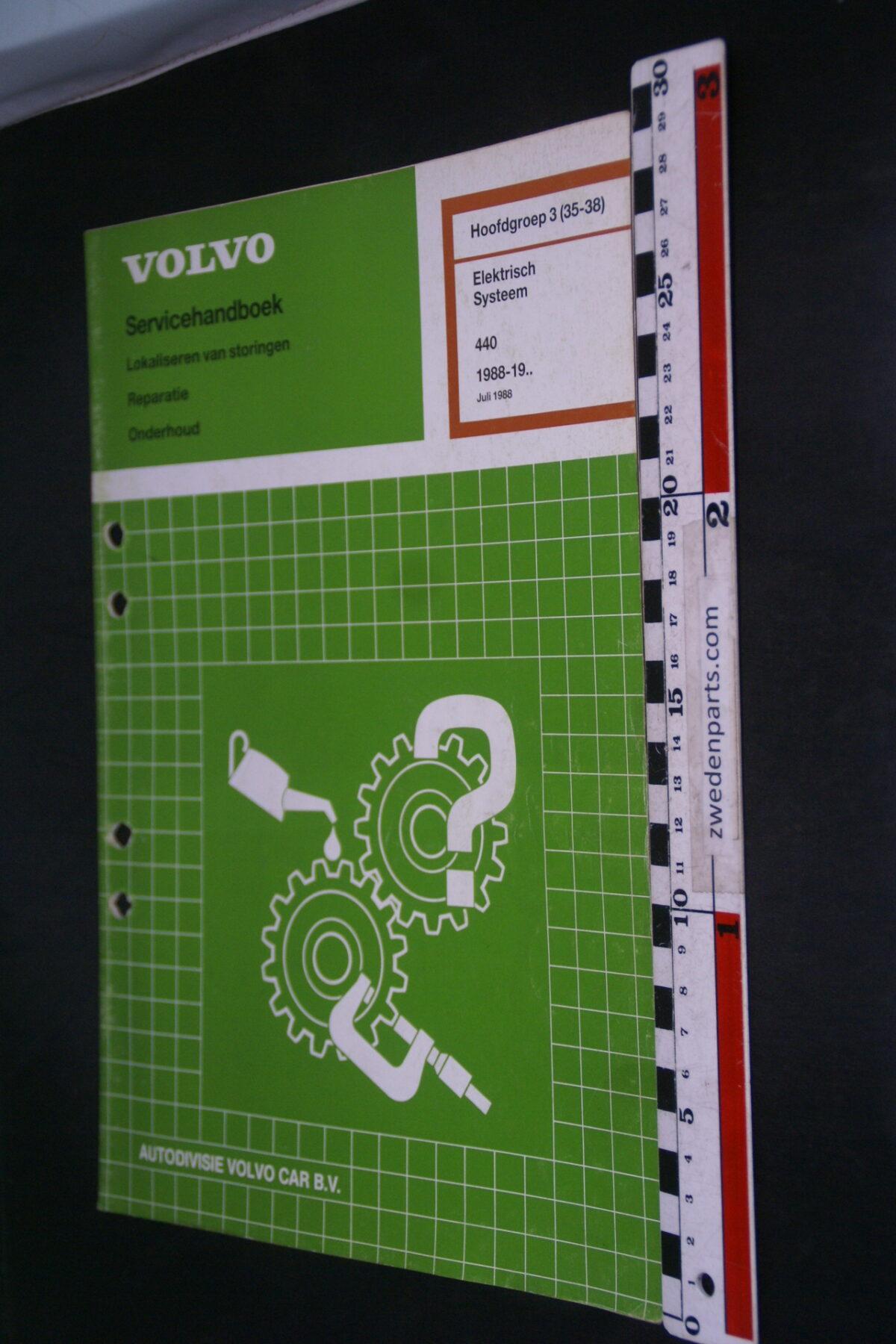 DSC09052 1988 origineel  Volvo 440 servicehandboek electrisch systeem 3 (35-38) 1 van 1.000 nr TP 35524-1