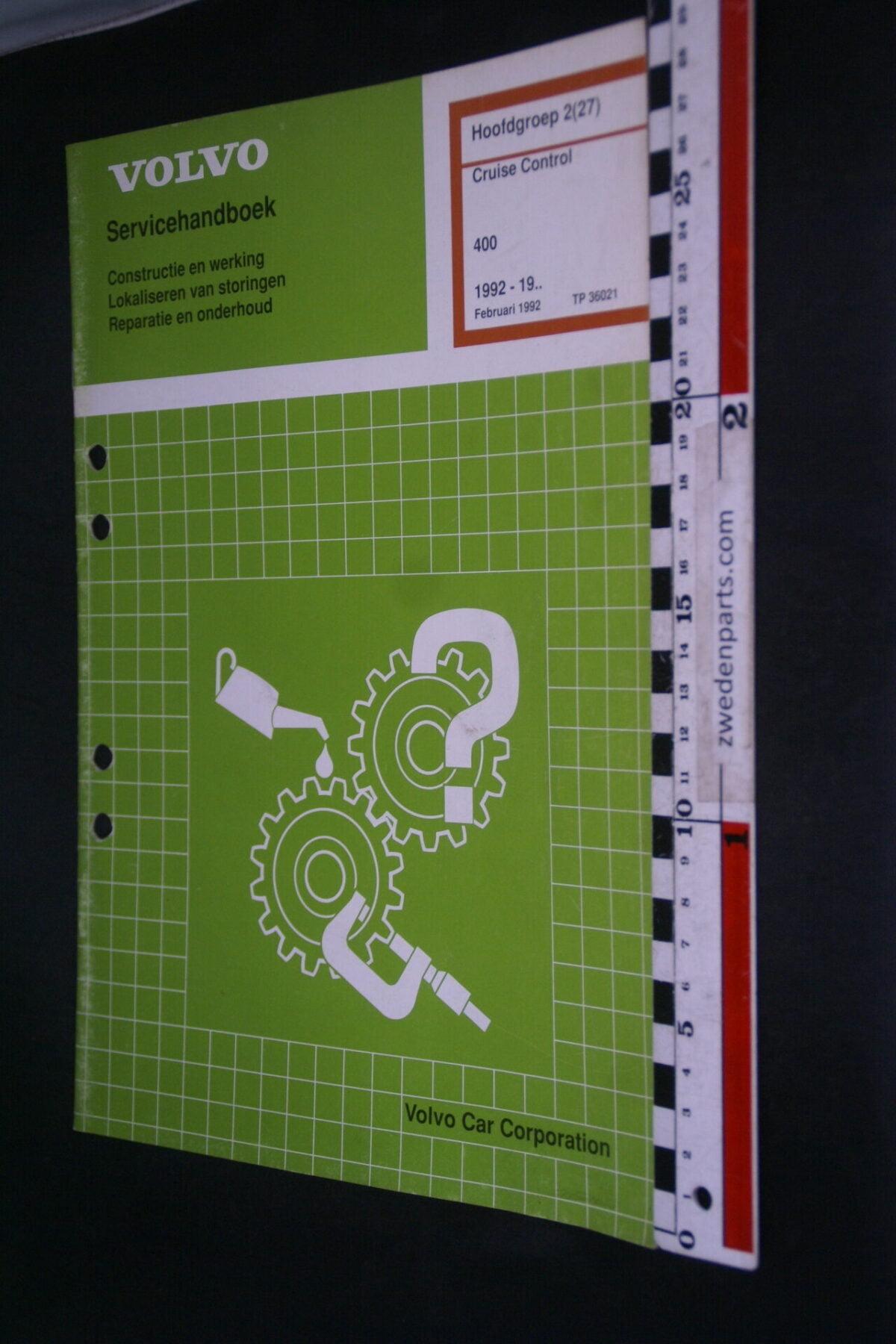 DSC09056 1992 origineel  Volvo 480 servicehandboek cruise control 2 (27) 1 van 1.000 nr TP 36021