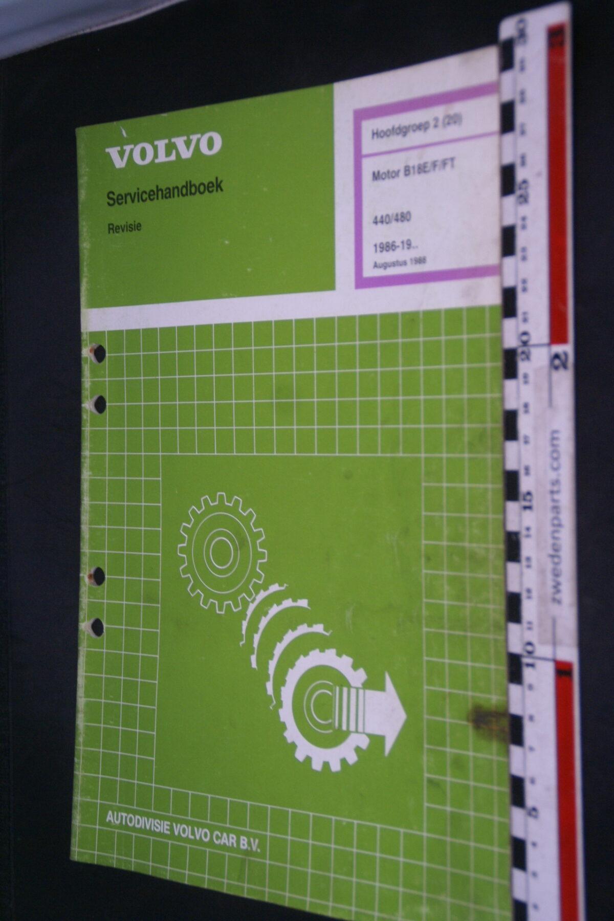 DSC09066 1988 origineel  Volvo 440 460 servicehandboek motor B18 E F FT 2 (20) 1 van 1.000 nr TP 35461-1