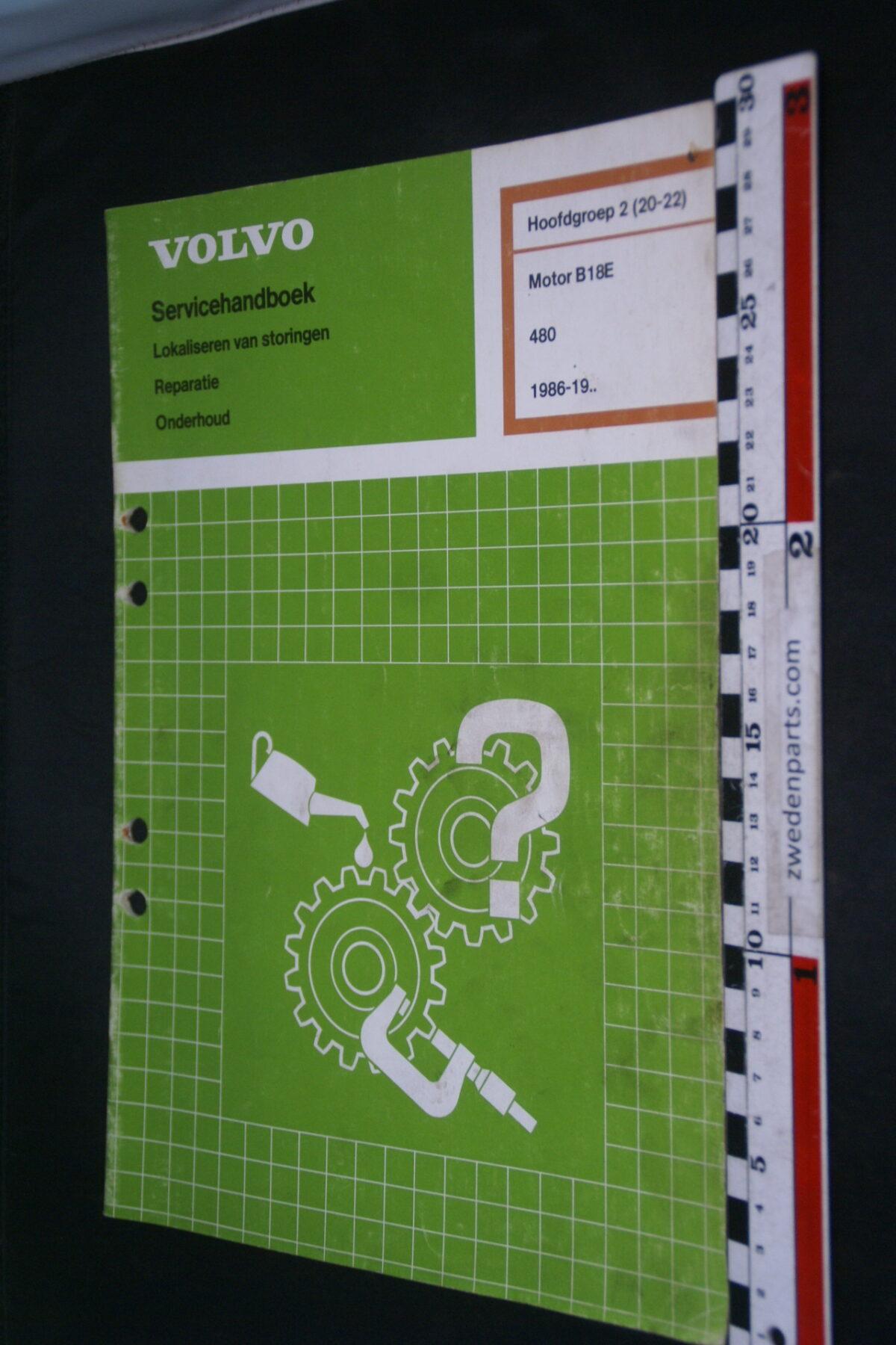 DSC09068 1992 origineel  Volvo 480 servicehandboek motor B18E 2 (20-22) 1 van 1.000 nr TP 35356-1