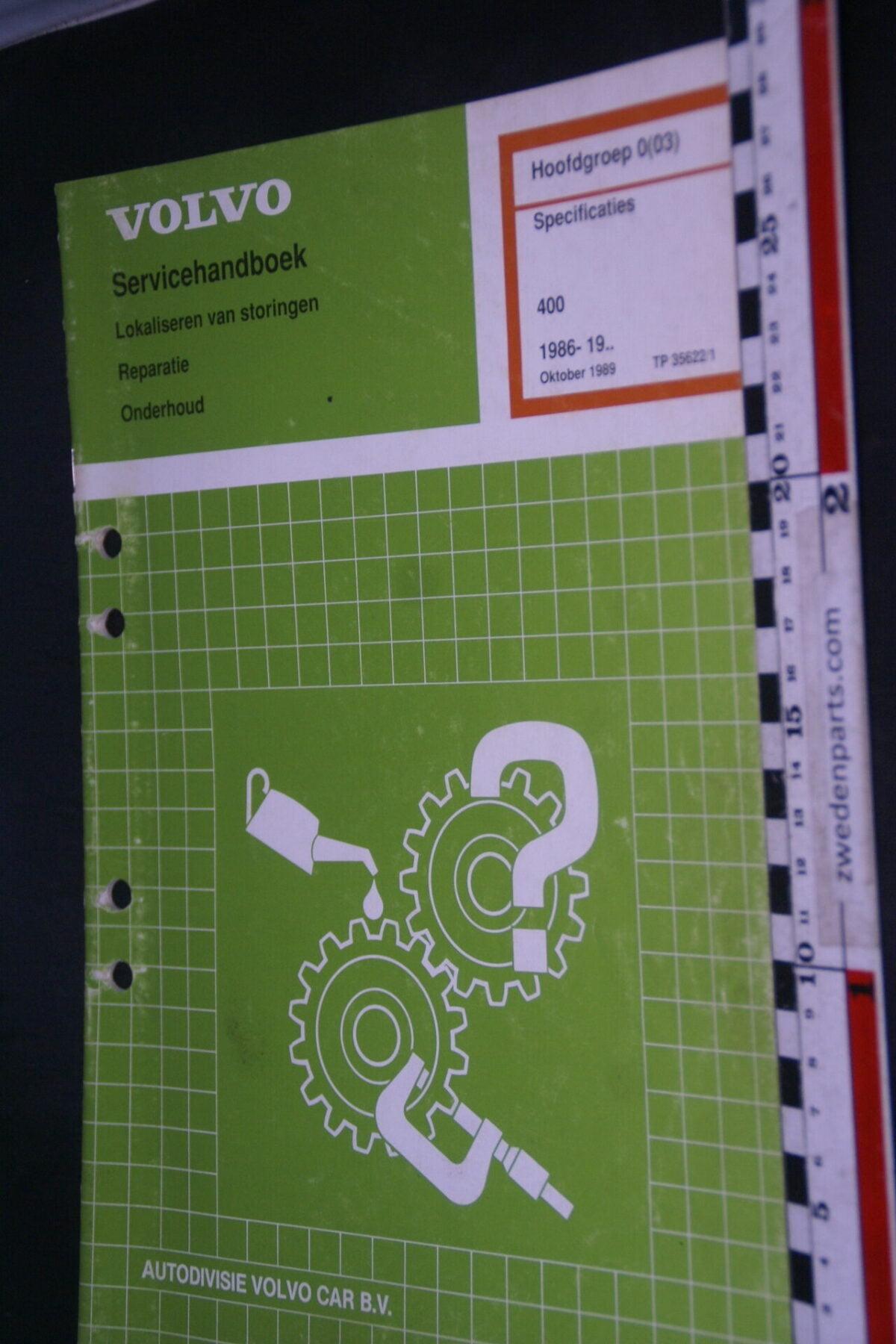 DSC09070 1992 origineel  Volvo 480 servicehandboek specificaties 0 (2) 1 van 1.000 nr TP 35622-1