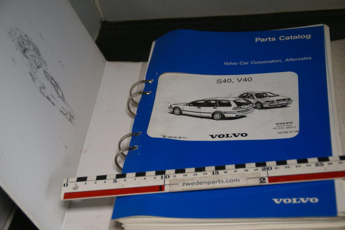 DSC09176 origineel Volvo parts catalog S40 V40, nr 196150 English, Svenskt