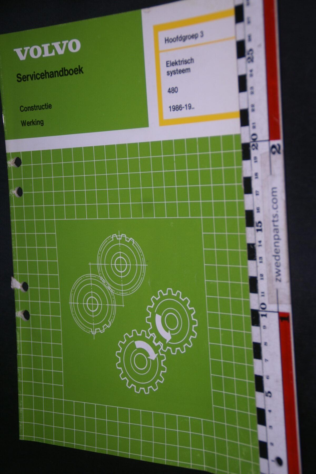 DSC09411 1986 origineel werkplaatsboek 3 electrisch systeem Volvo 480 1 van 2.250 nr TP 35314-1