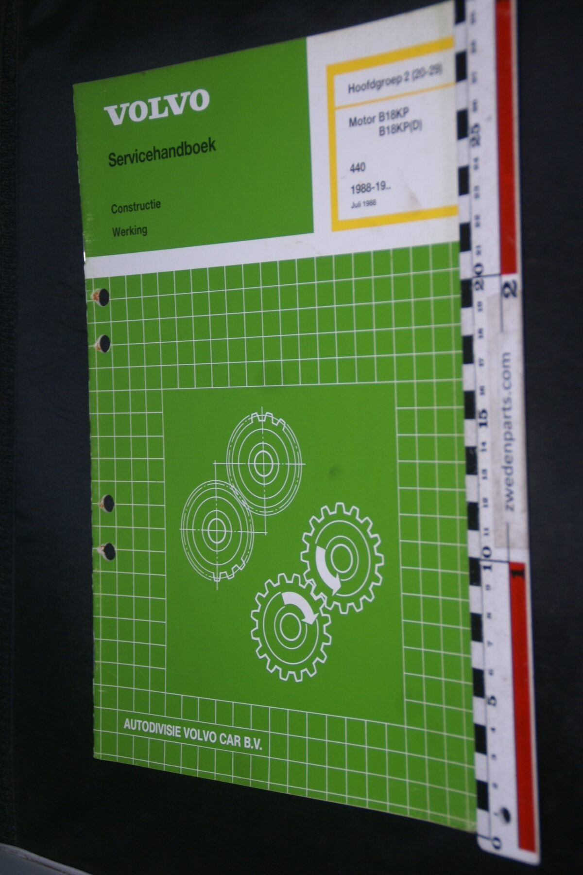 DSC09415 1988 origineel werkplaatsboek 2 (20-29) motor Volvo 440 1 van 1.500 nr TP 35503-1