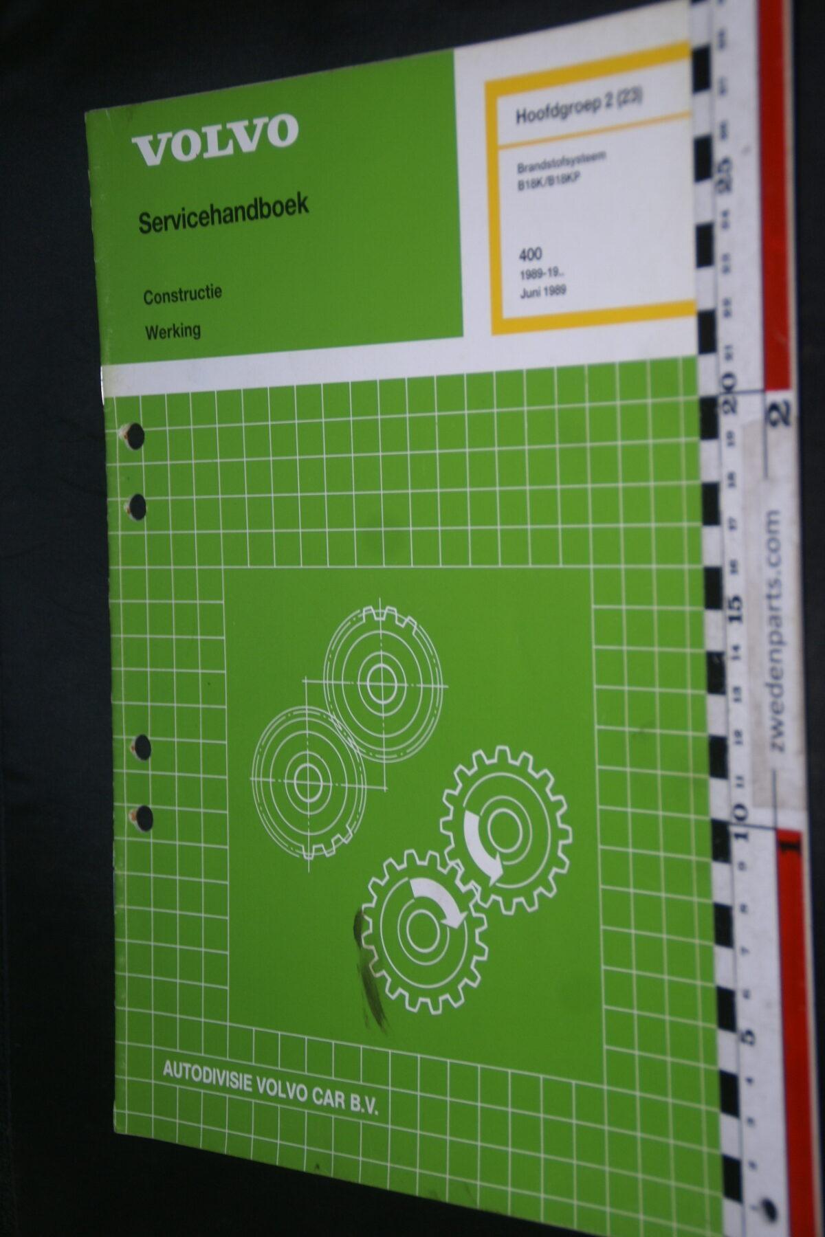 DSC09417 1989 origineel werkplaatsboek 2 (22) brandstofsysteem Volvo 400 480 1 van 900 nr TP 34473-1