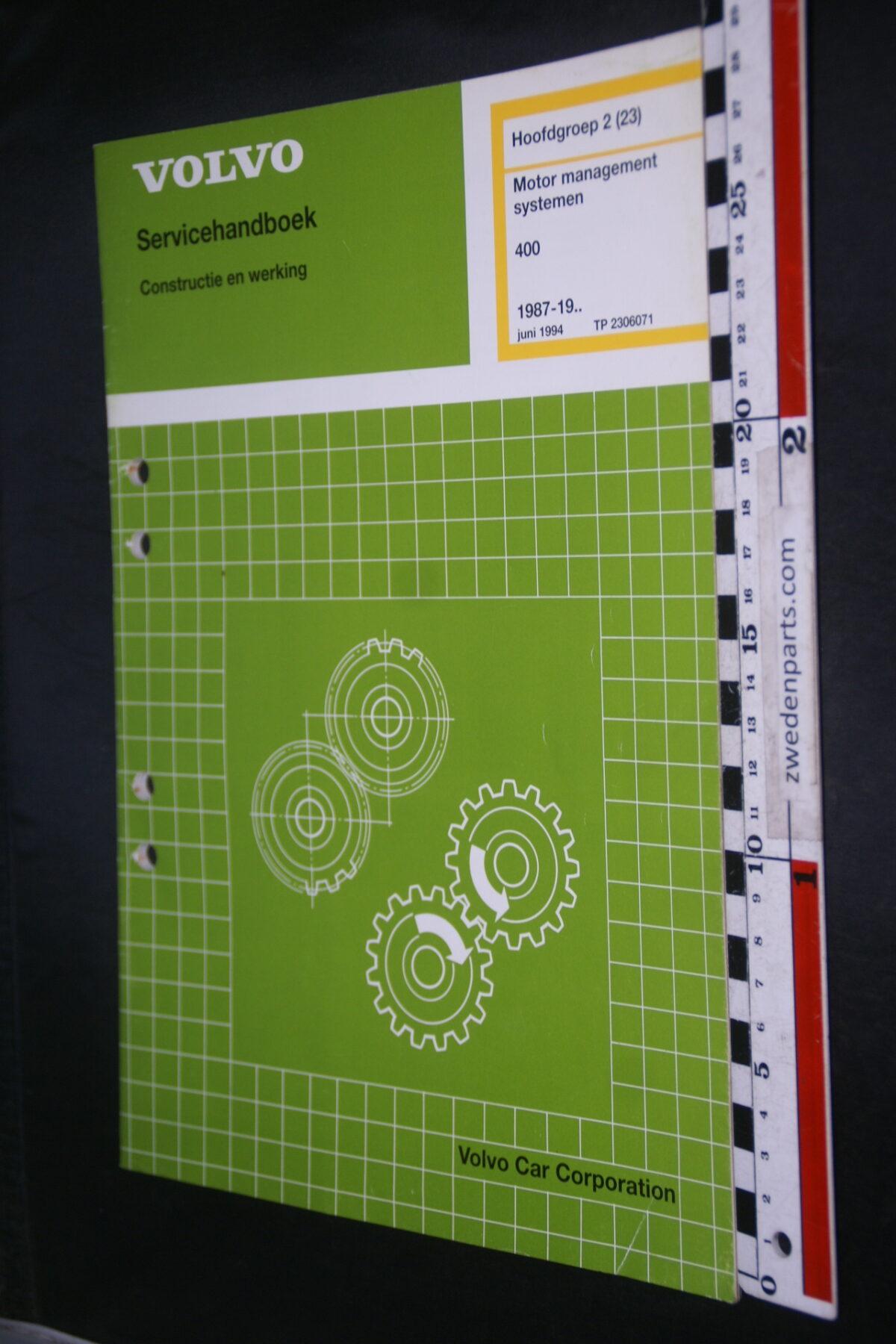 DSC09419 1994 origineel werkplaatsboek 2 (23) motormanagementsysteem  Volvo 400 480 1 van 1.000 nr TP 2306071