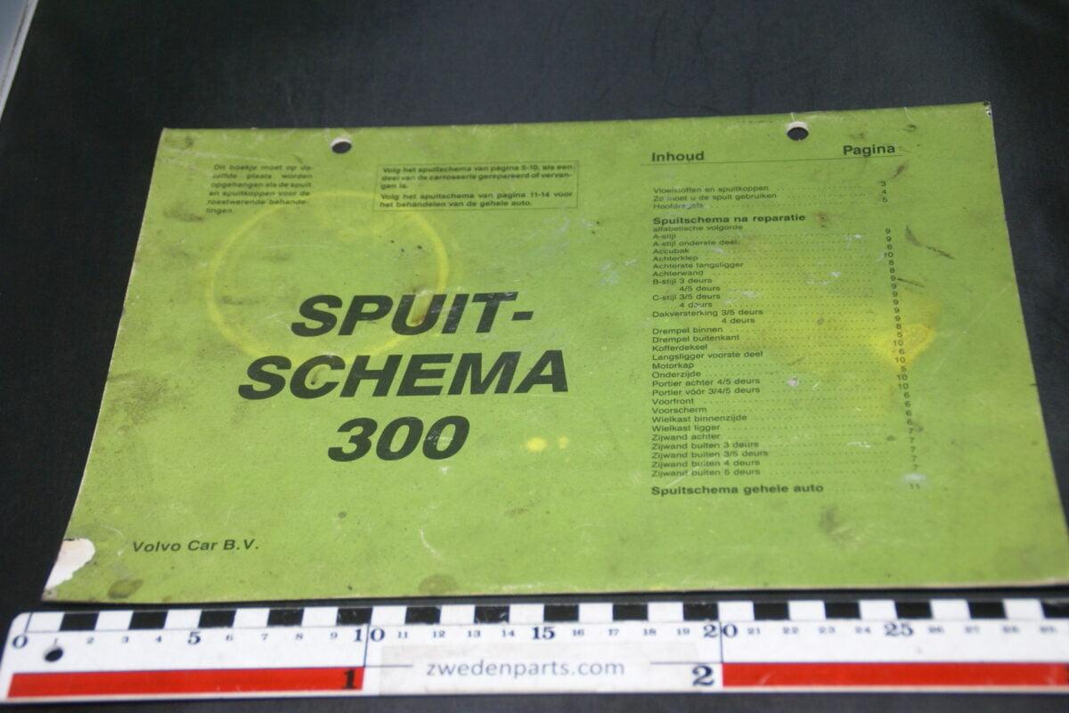 DSC09435 1986 origineel spuitschema Volvo 300 1 van 250 nr TP 31029-1
