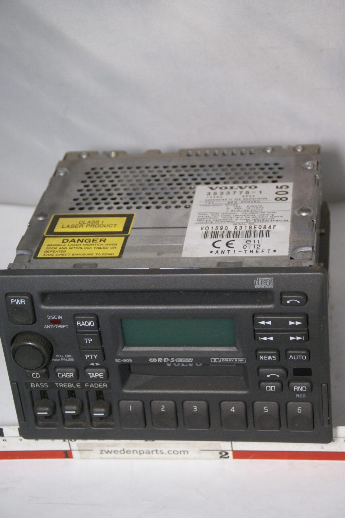 DSC08352 originele Volvo bigfront radio cassettespeler CD speler SC805 zonder code-85aff69a