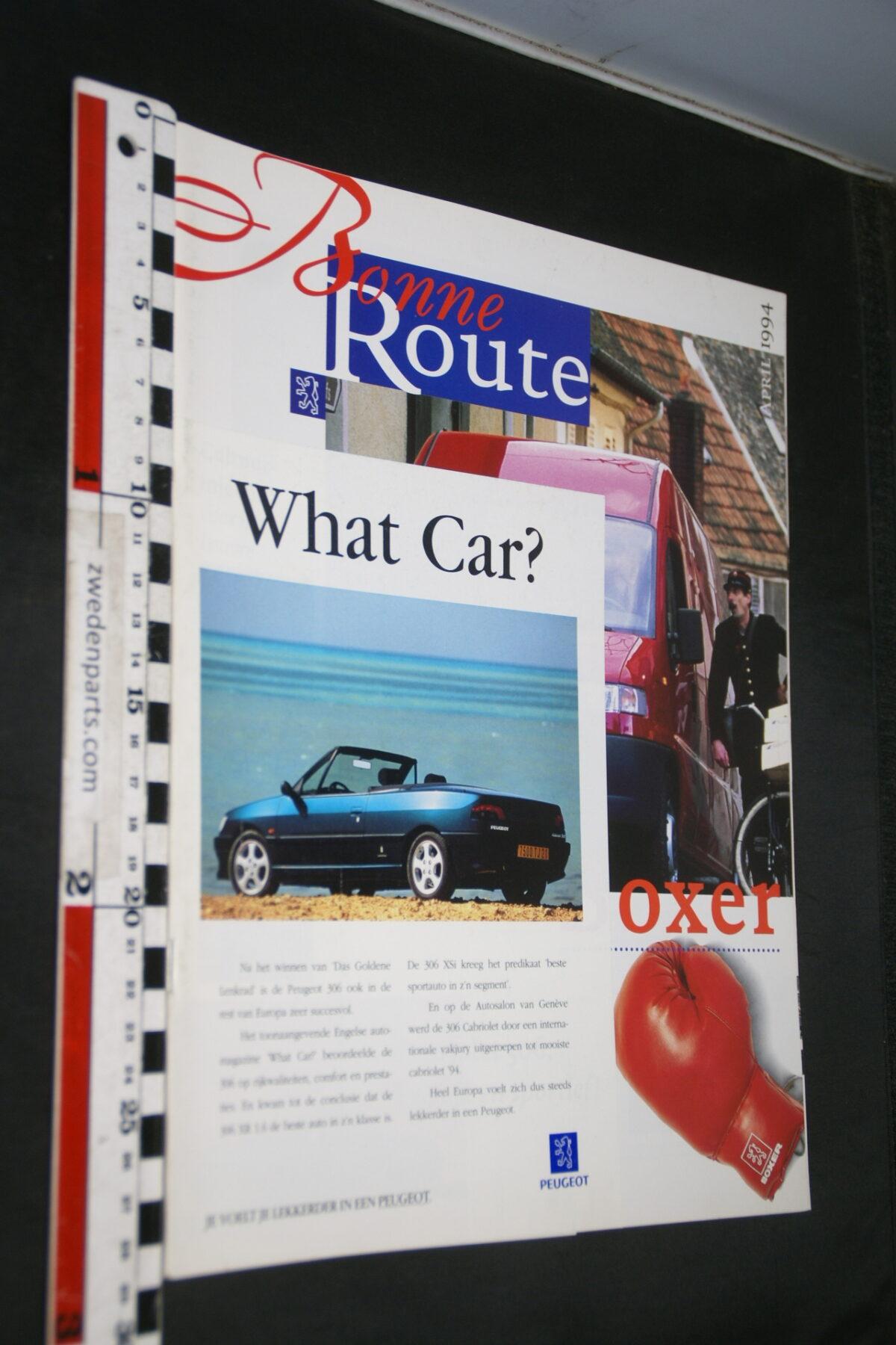 DSC08374 origineel tijdschrift Bonne Route met Renault 306XSI cabrio-fe60d1ce