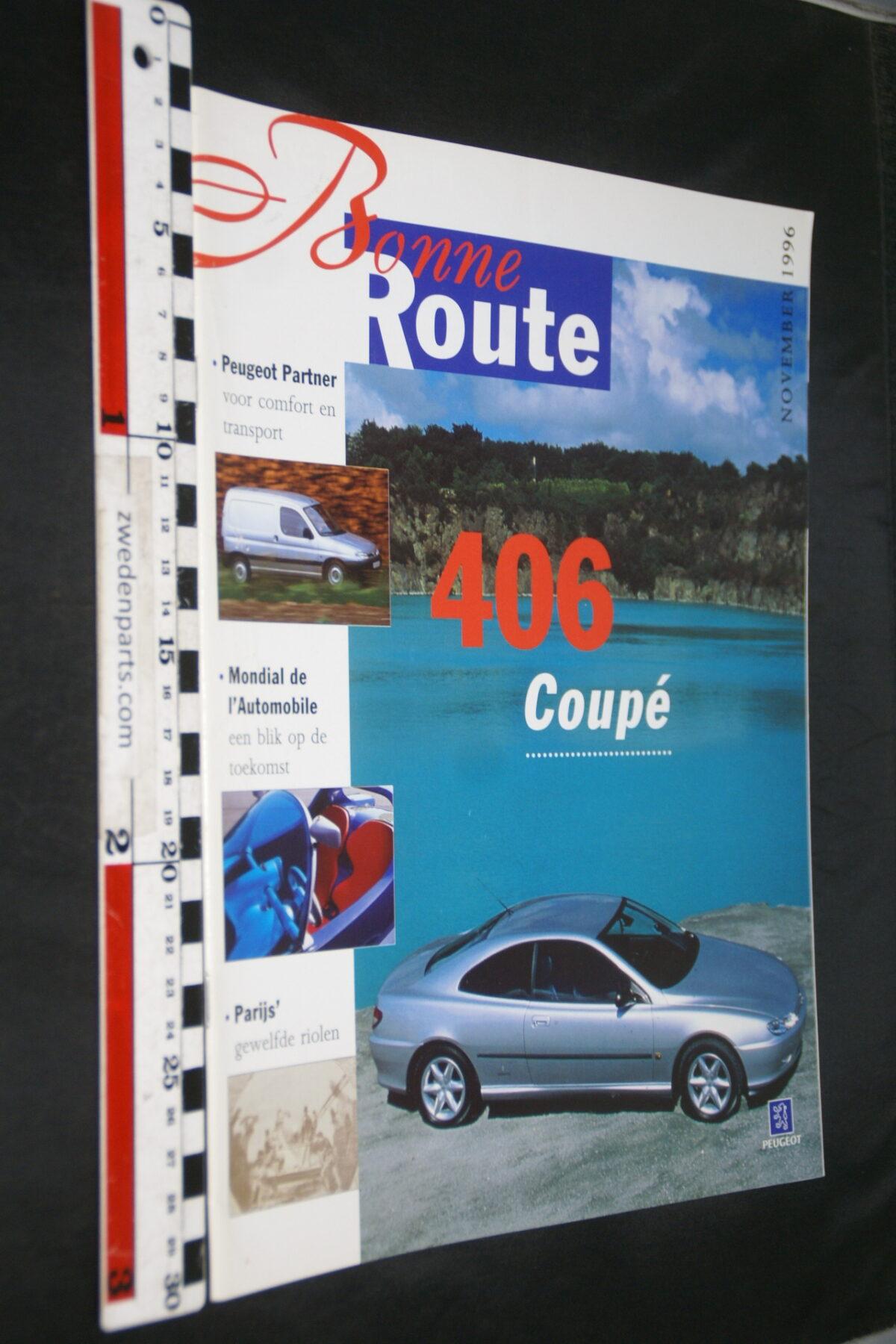 DSC08380 origineel tijdschrift Bonne Route met Renault 406 coupe-682c6dee